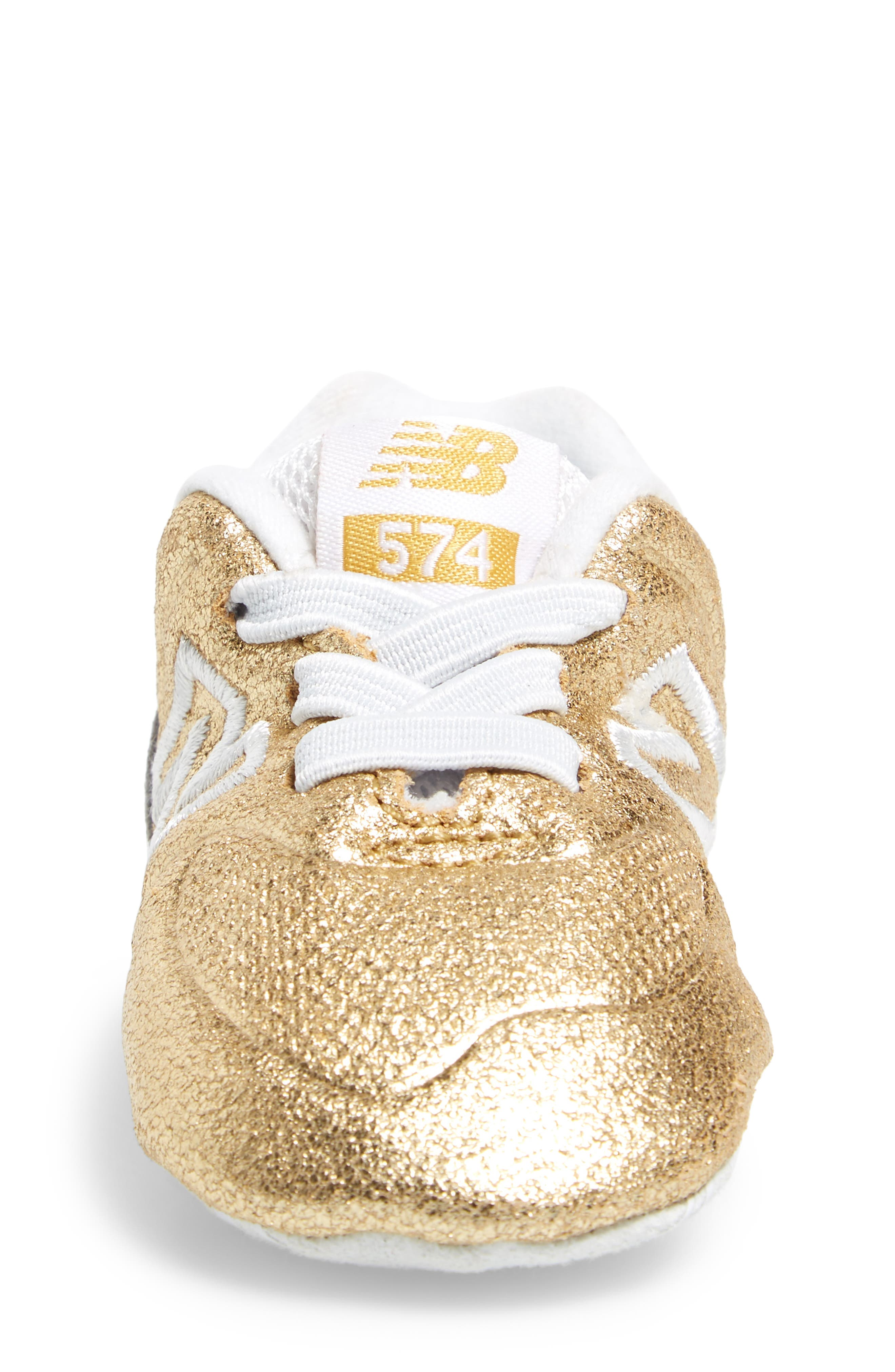 574 Metallic Crib Sneaker,                             Alternate thumbnail 8, color,