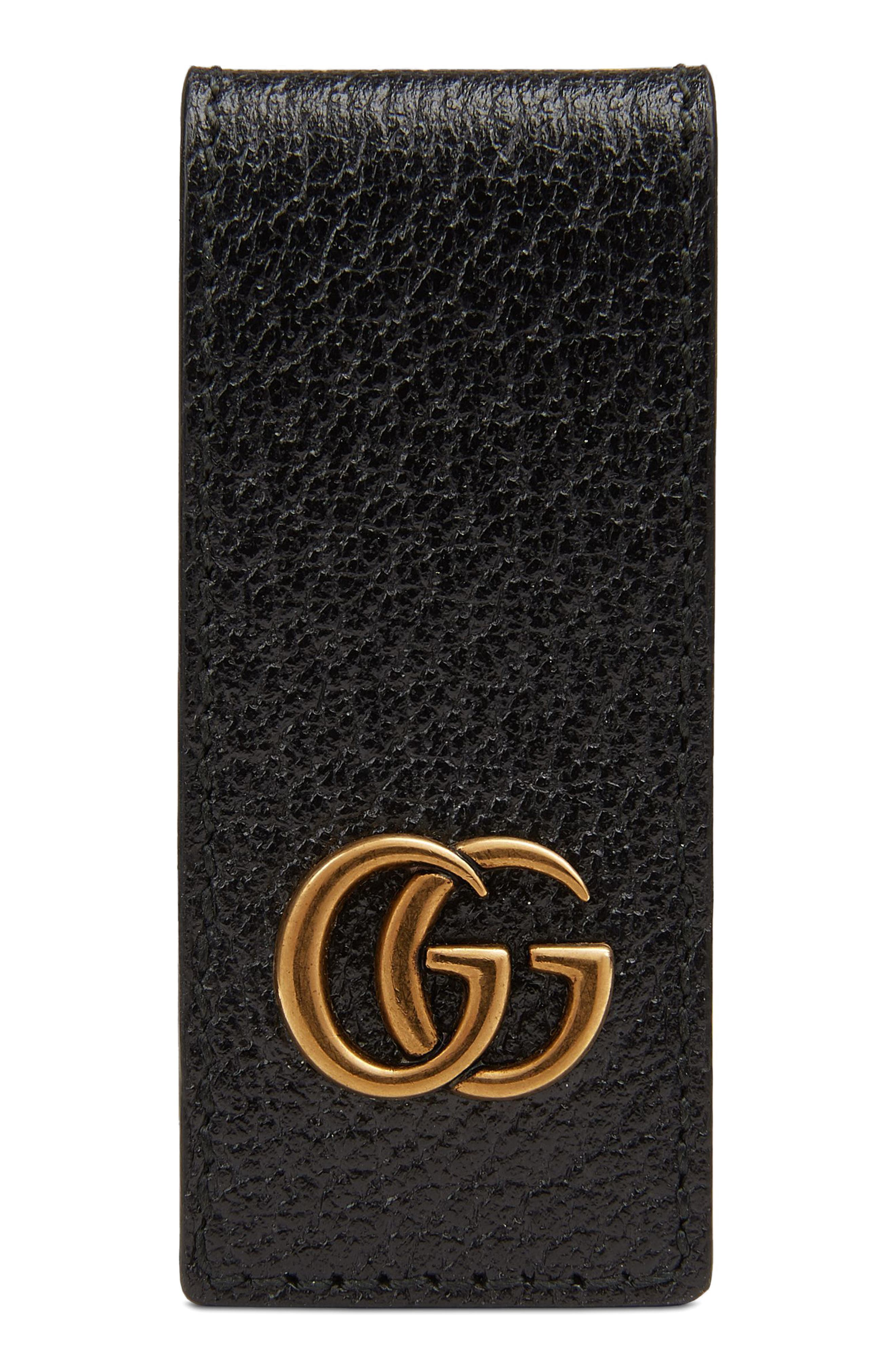 GG Marmont Money Clip,                         Main,                         color, 001