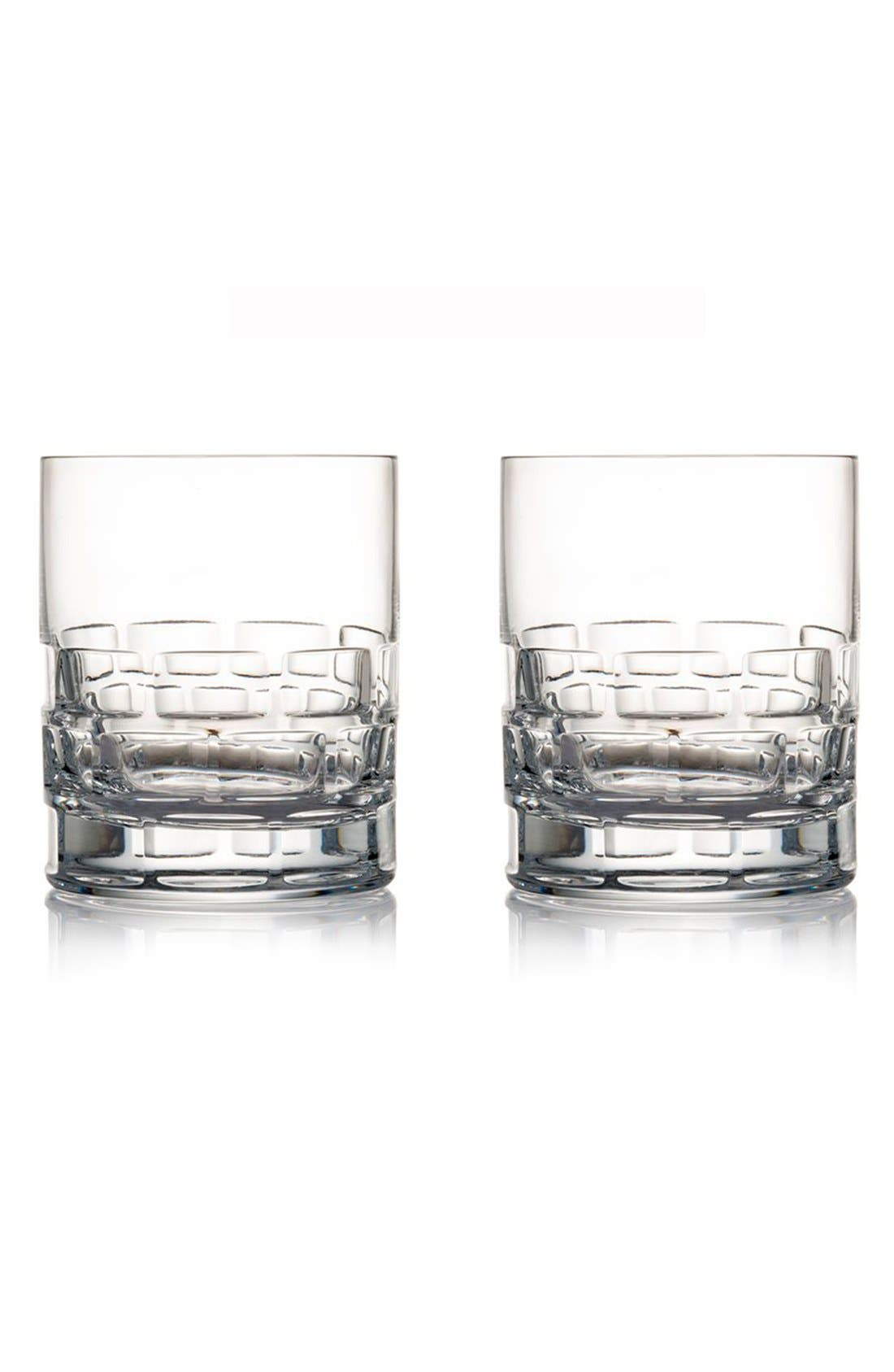 'Maison' Lead Crystal Double Old Fashioned Glasses,                             Main thumbnail 1, color,
