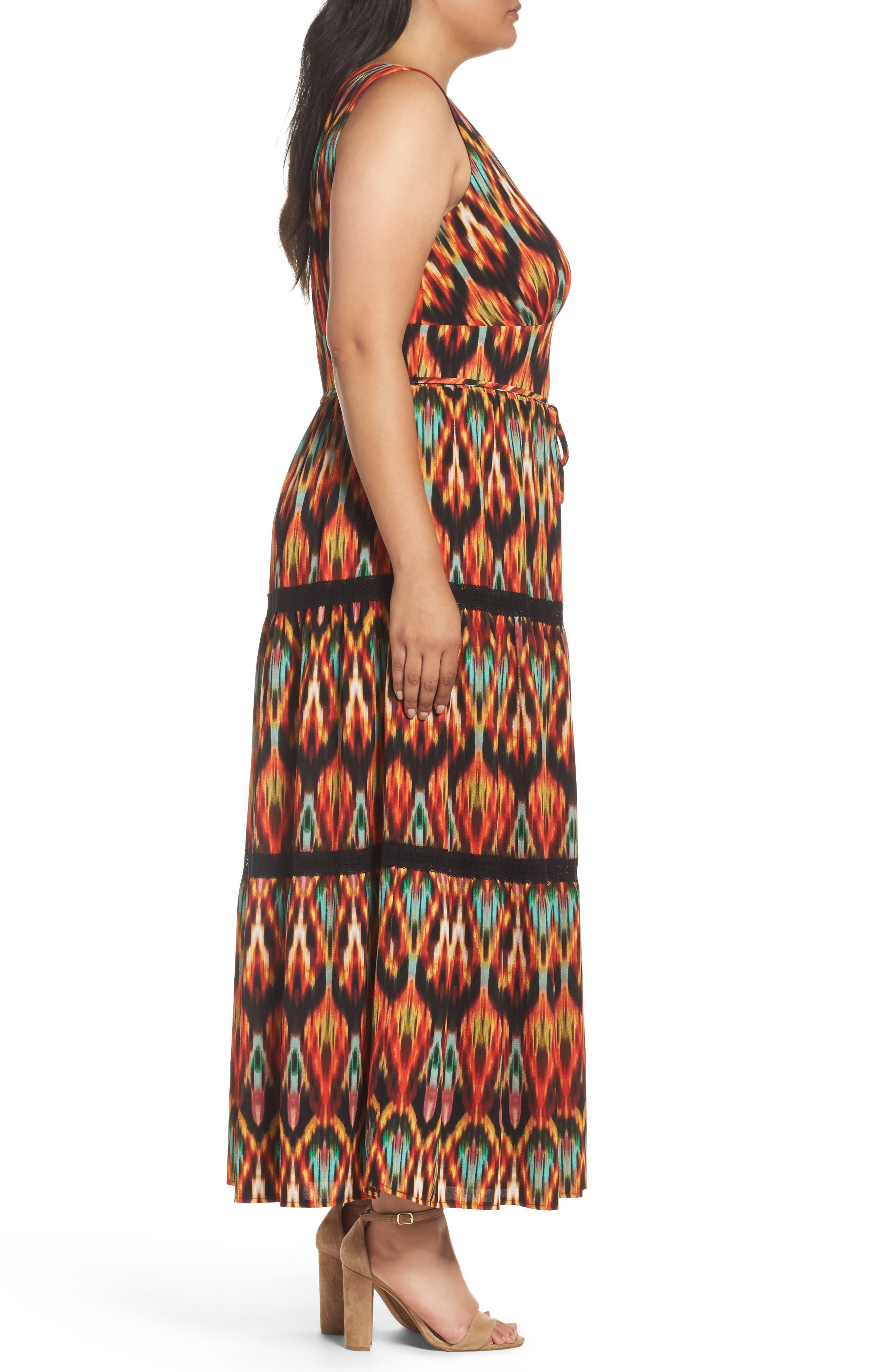 Bubble Print Maxi Dress,                             Alternate thumbnail 3, color,                             MULTI
