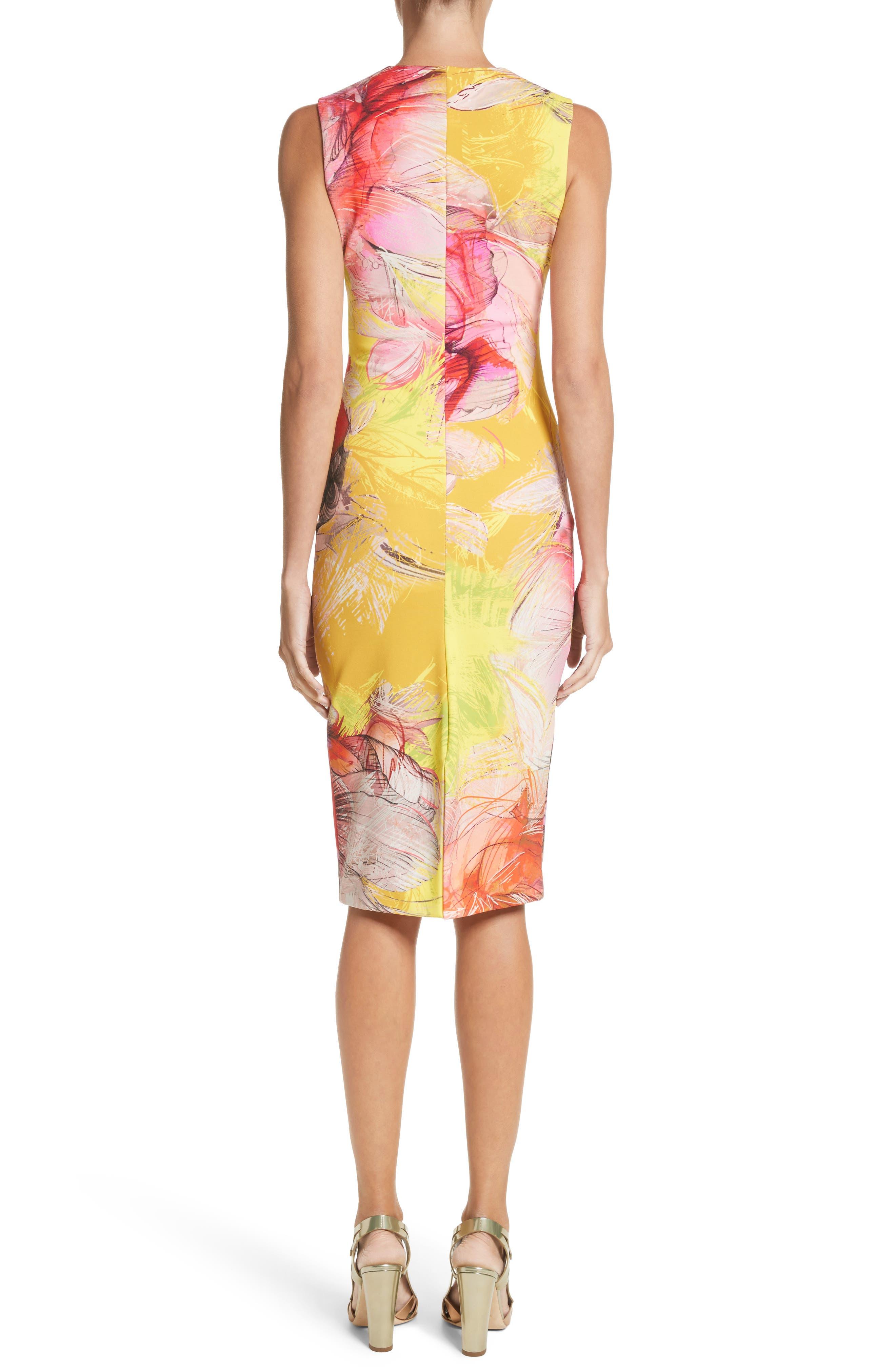 Print Sheath Dress,                             Alternate thumbnail 4, color,