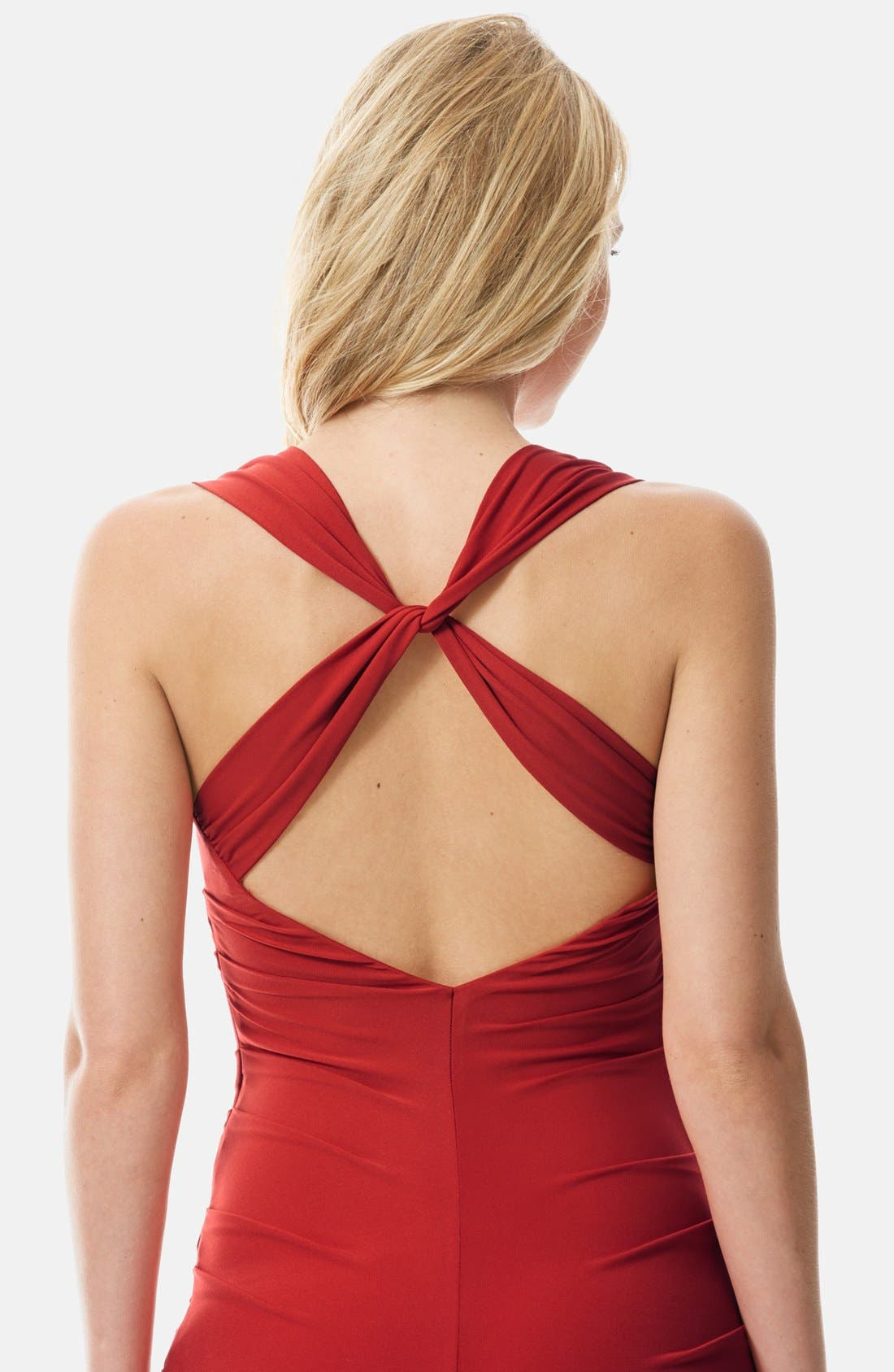 Twist Back Jersey Body-Con Dress,                             Alternate thumbnail 12, color,