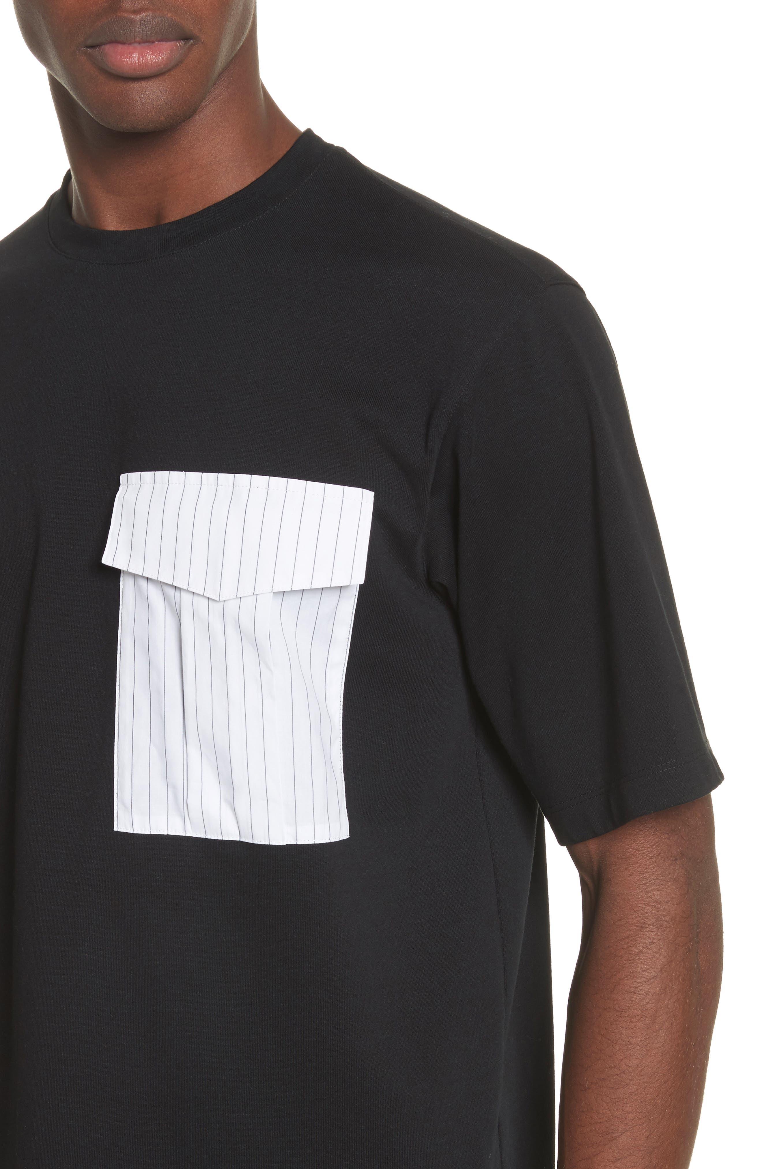Pinstripe Pocket T-Shirt,                             Alternate thumbnail 4, color,