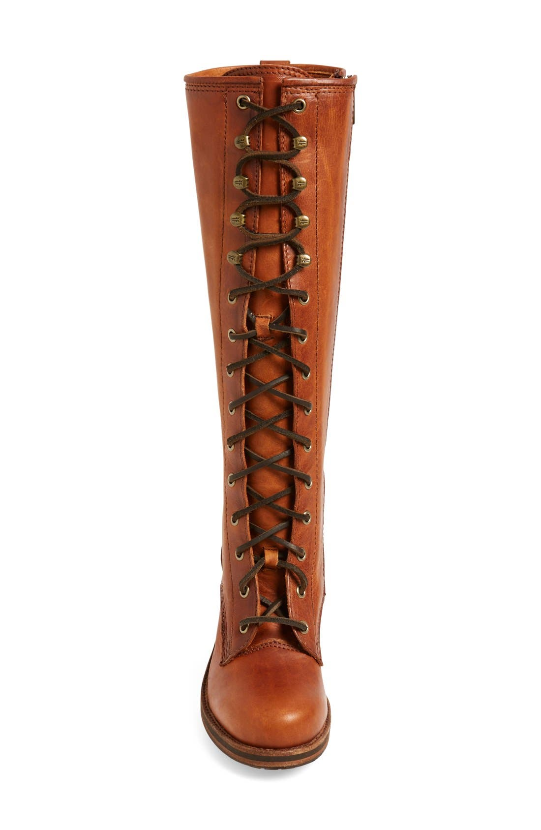 'Karen' Lace Up Tall Boot,                             Alternate thumbnail 4, color,                             235