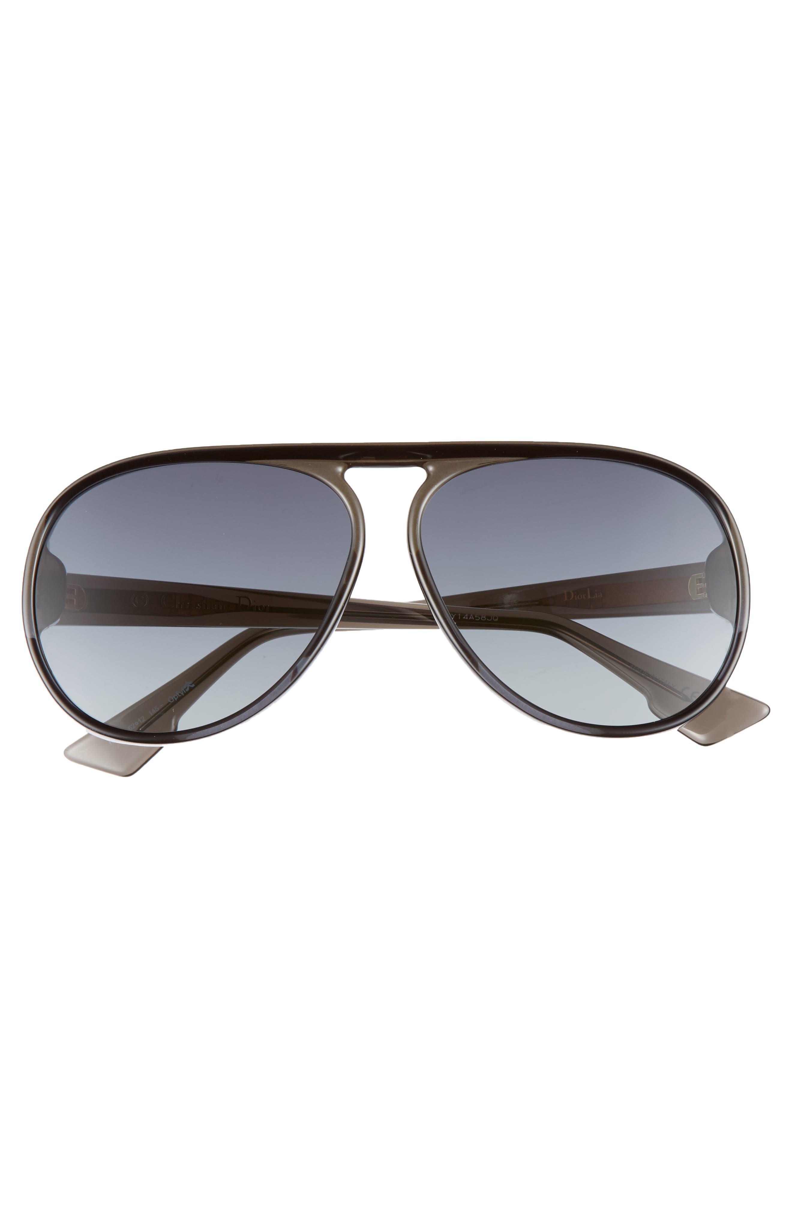 Lia 62mm Oversize Aviator Sunglasses,                             Alternate thumbnail 3, color,                             020