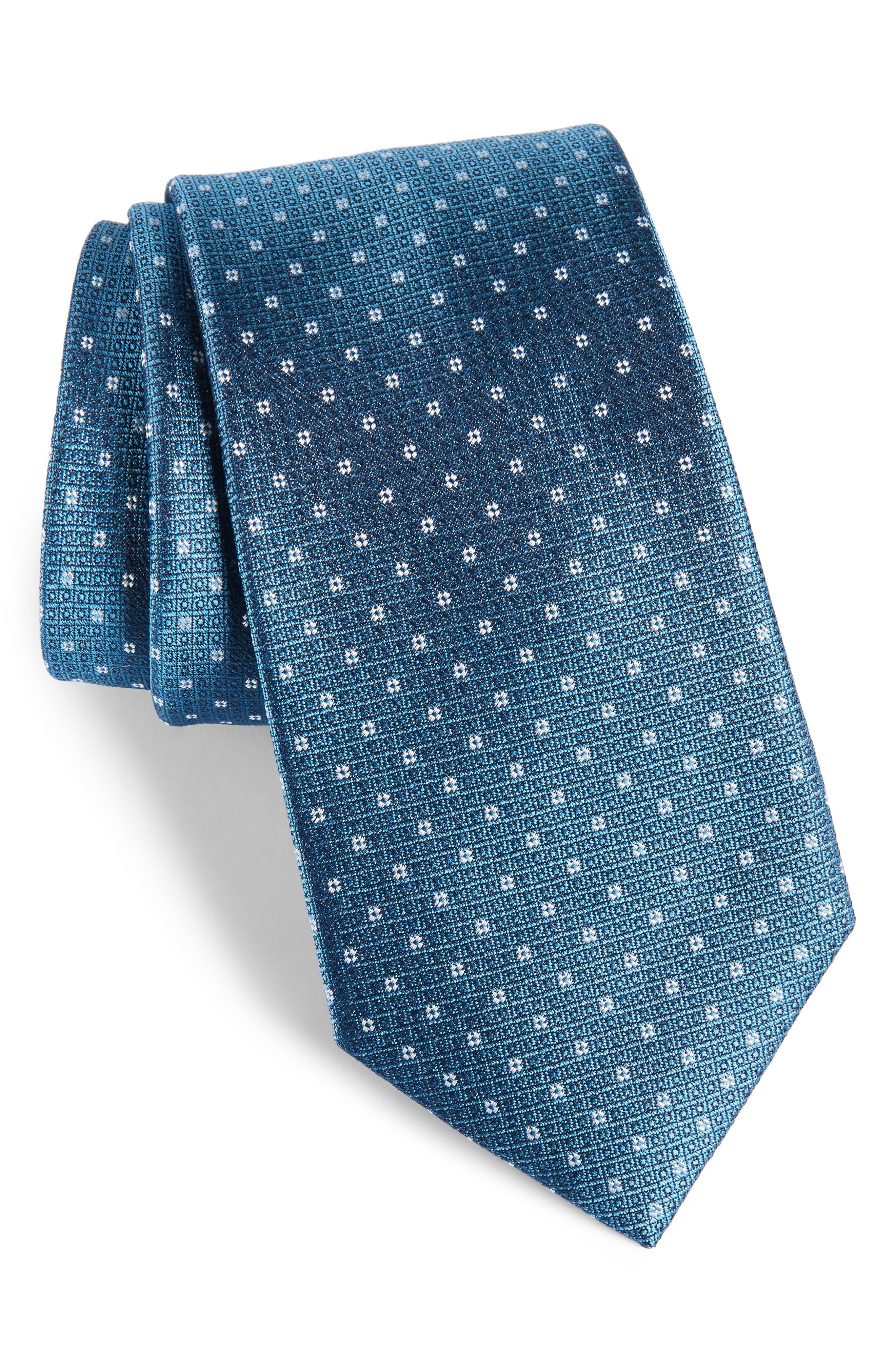 Denson Neat Silk Tie,                             Main thumbnail 3, color,