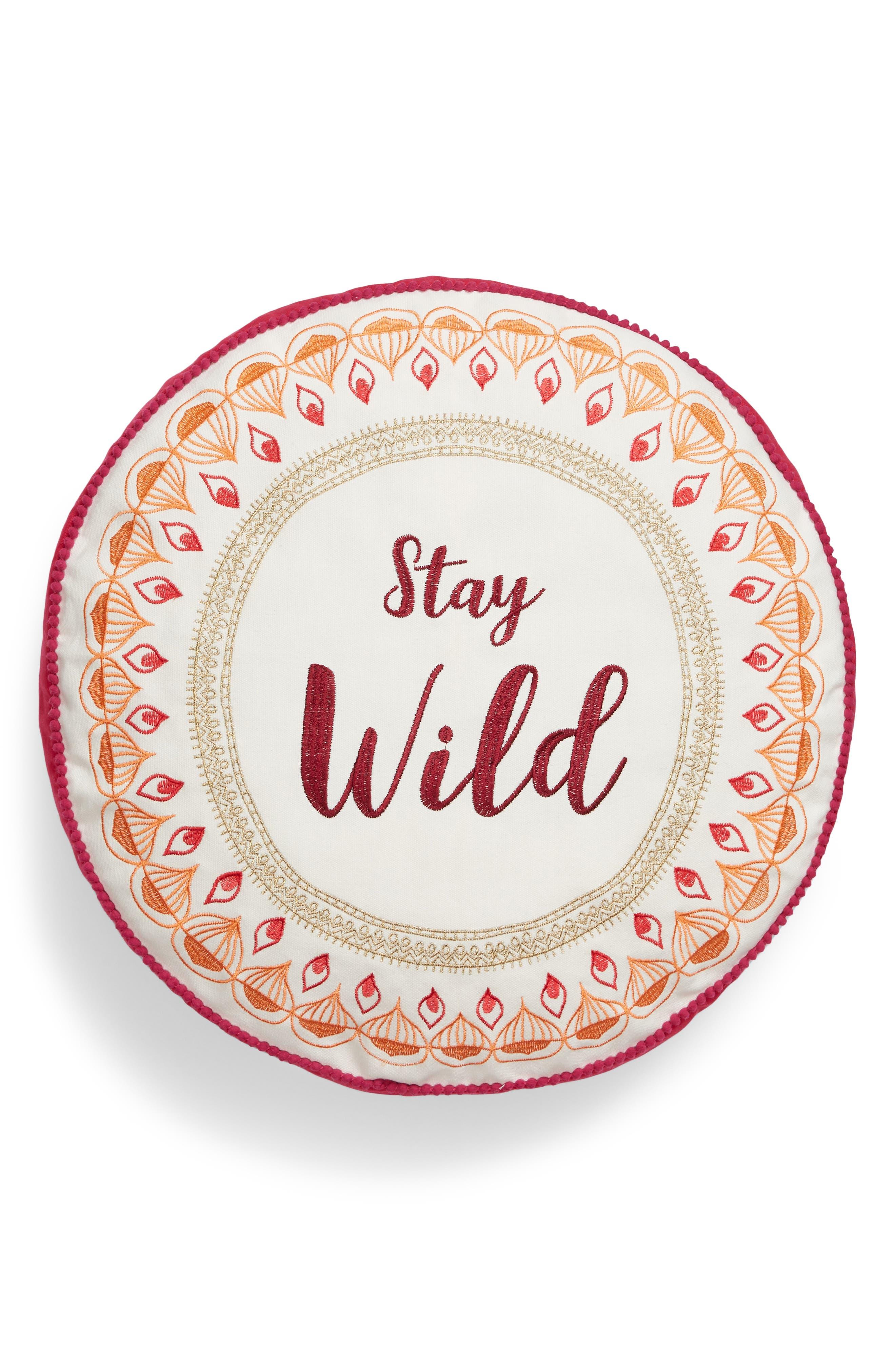 Saffron Stay Wild Accent Pillow,                             Main thumbnail 1, color,                             903
