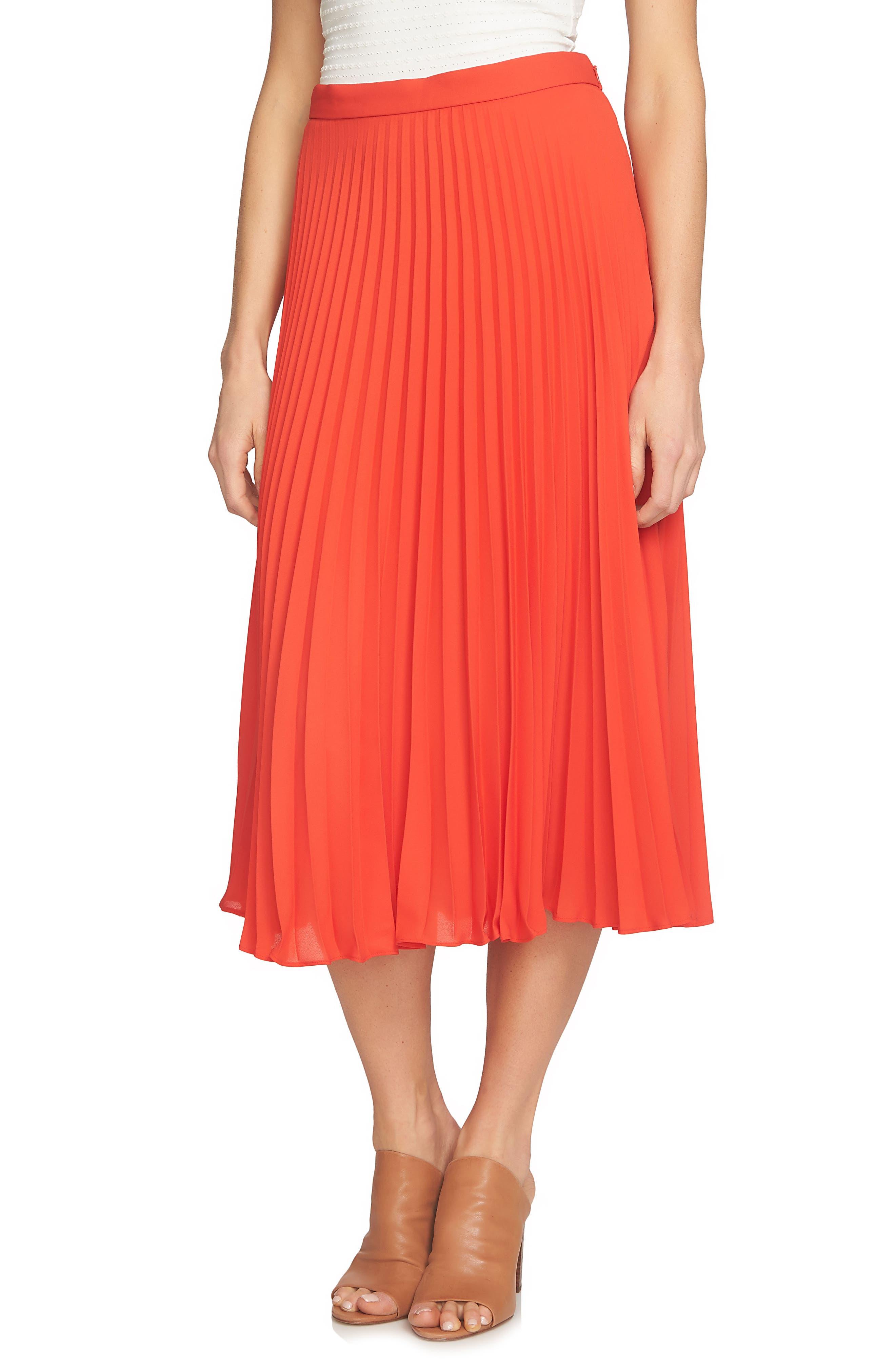 Pleated Midi Skirt,                             Main thumbnail 2, color,