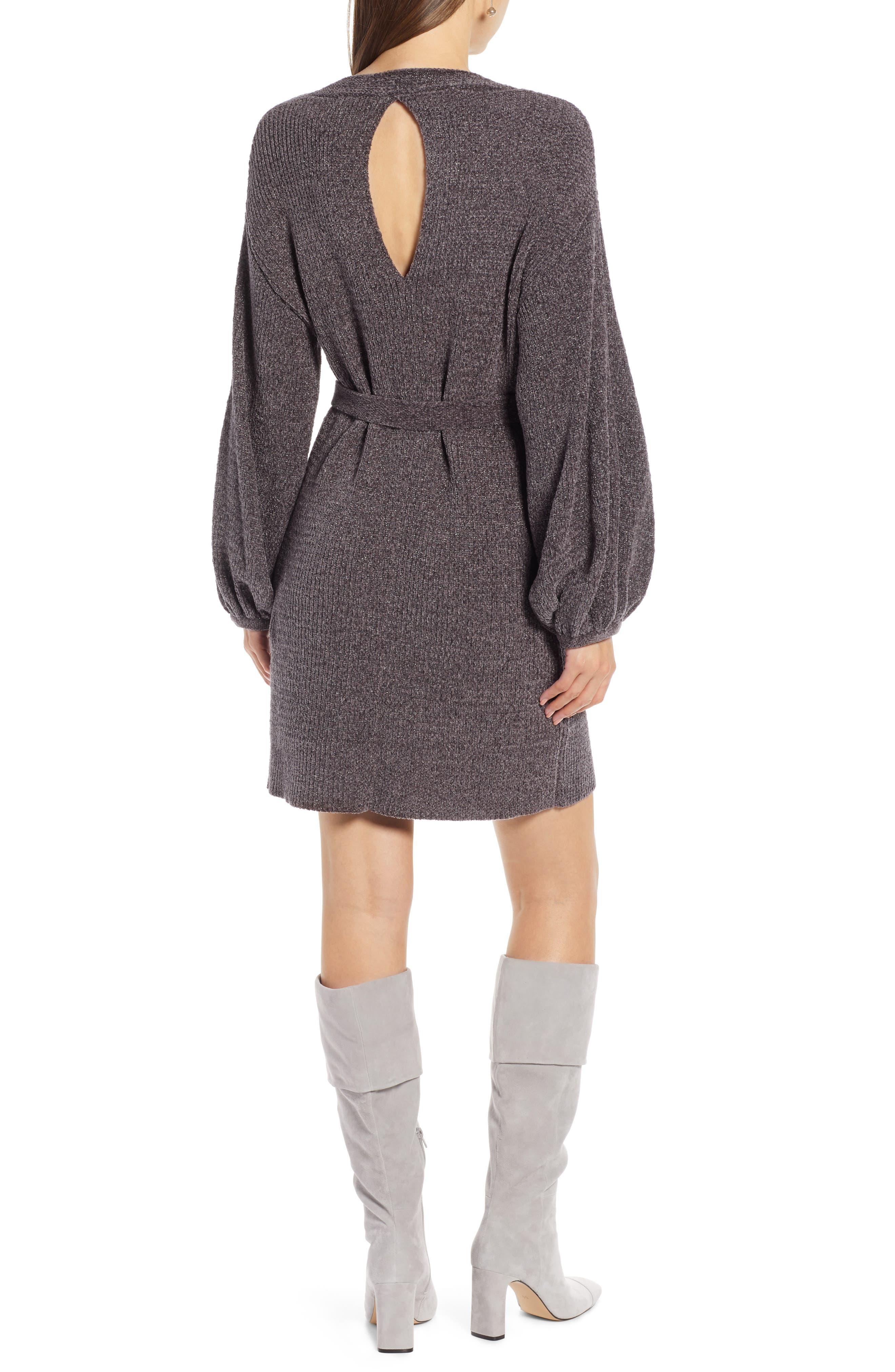 Something Navy Shimmer Sweater Dress Nordstrom Exclusive Nordstrom