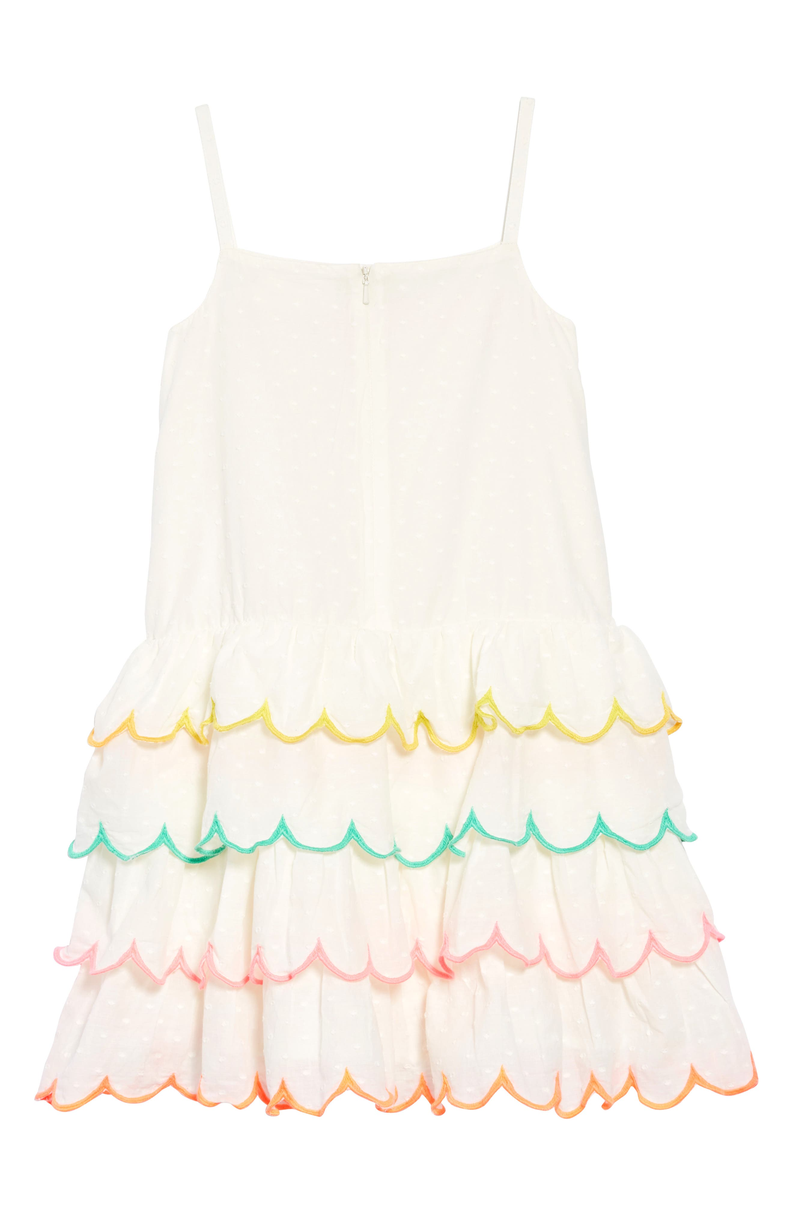 Tiered Scallop Dress,                             Alternate thumbnail 2, color,                             904