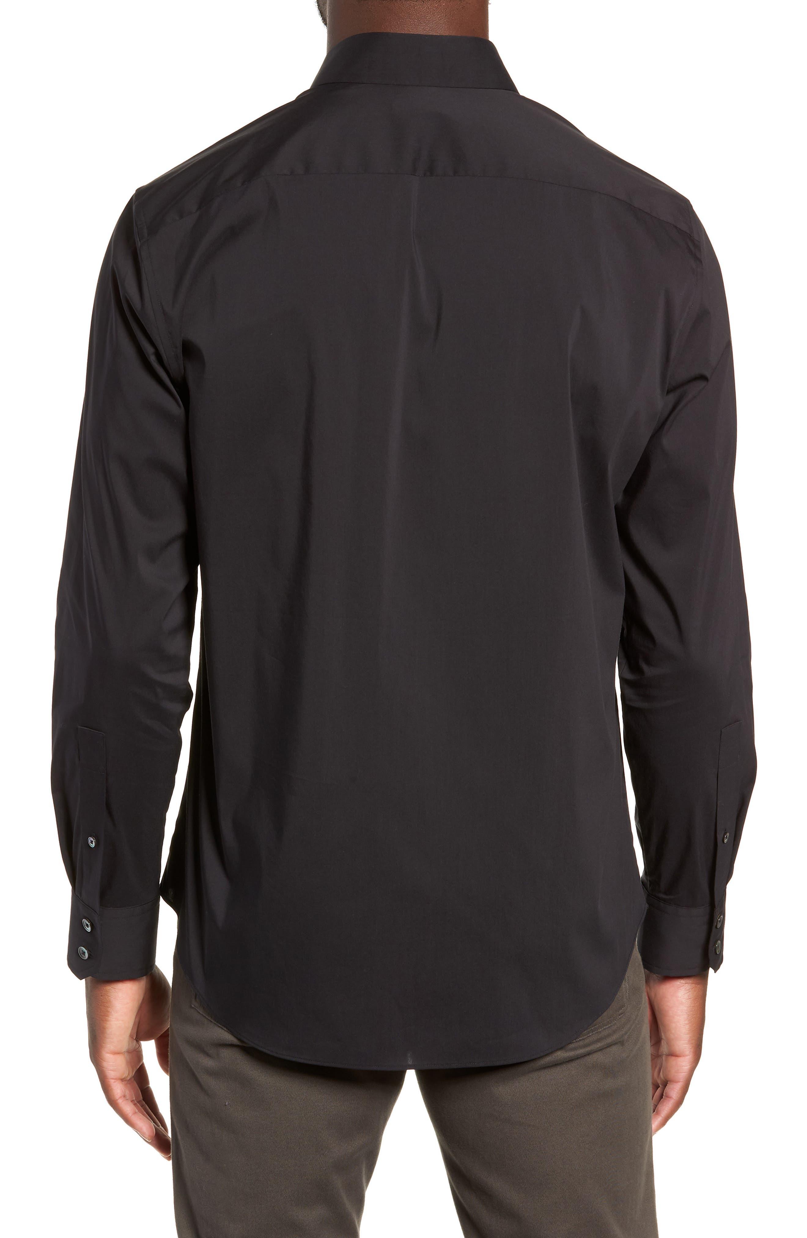 Mulberry Regular Fit Sport Shirt,                             Alternate thumbnail 3, color,                             BLACK