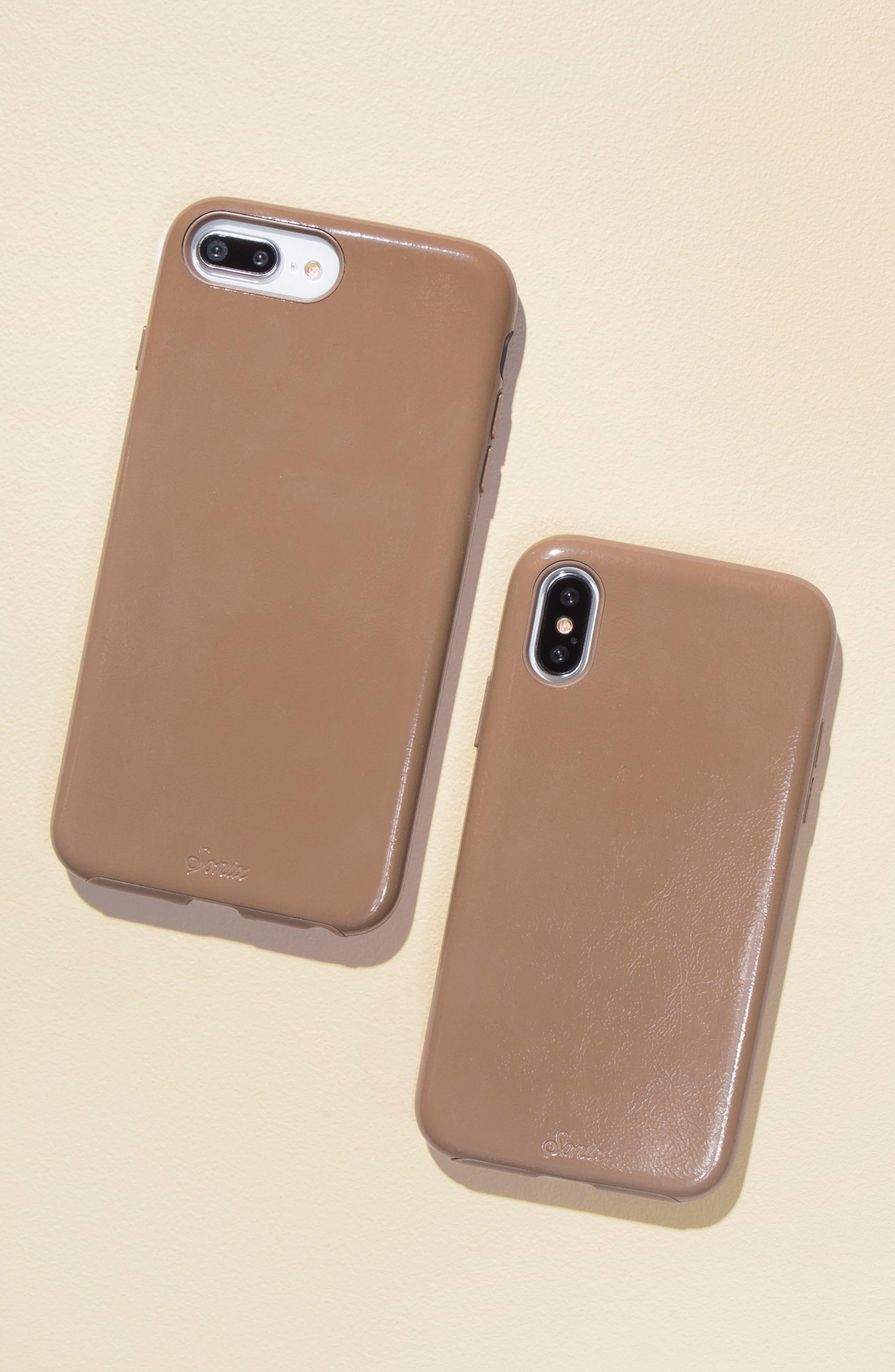 Cherry Faux Leather iPhone 6/6s/7/8 Plus Case,                             Alternate thumbnail 12, color,