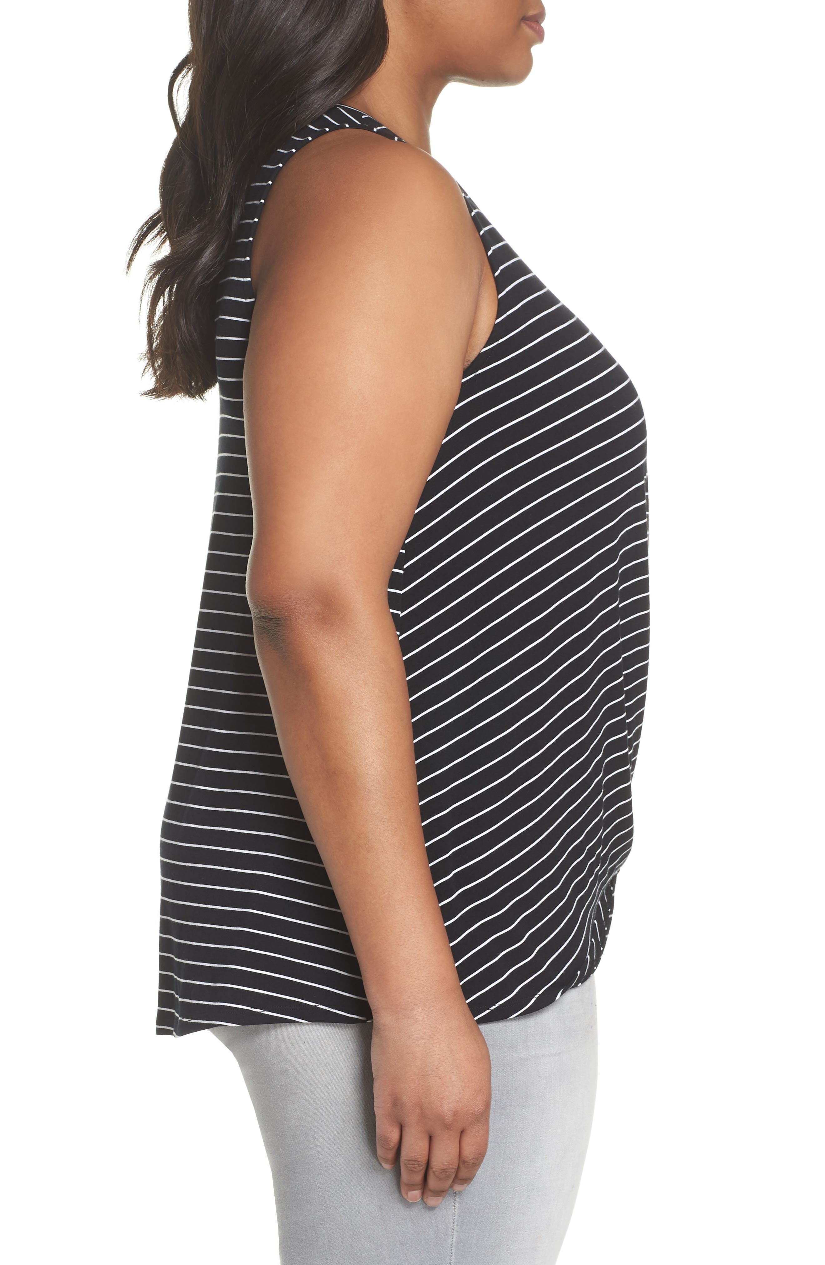 Twisted Waist Tank Top,                             Alternate thumbnail 3, color,                             001