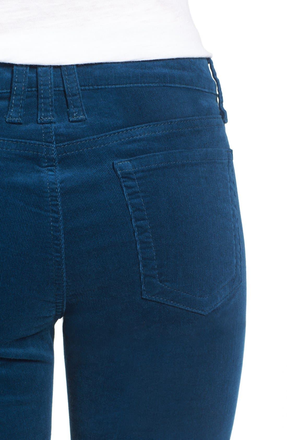 'Diana' Stretch Corduroy Skinny Pants,                             Alternate thumbnail 133, color,