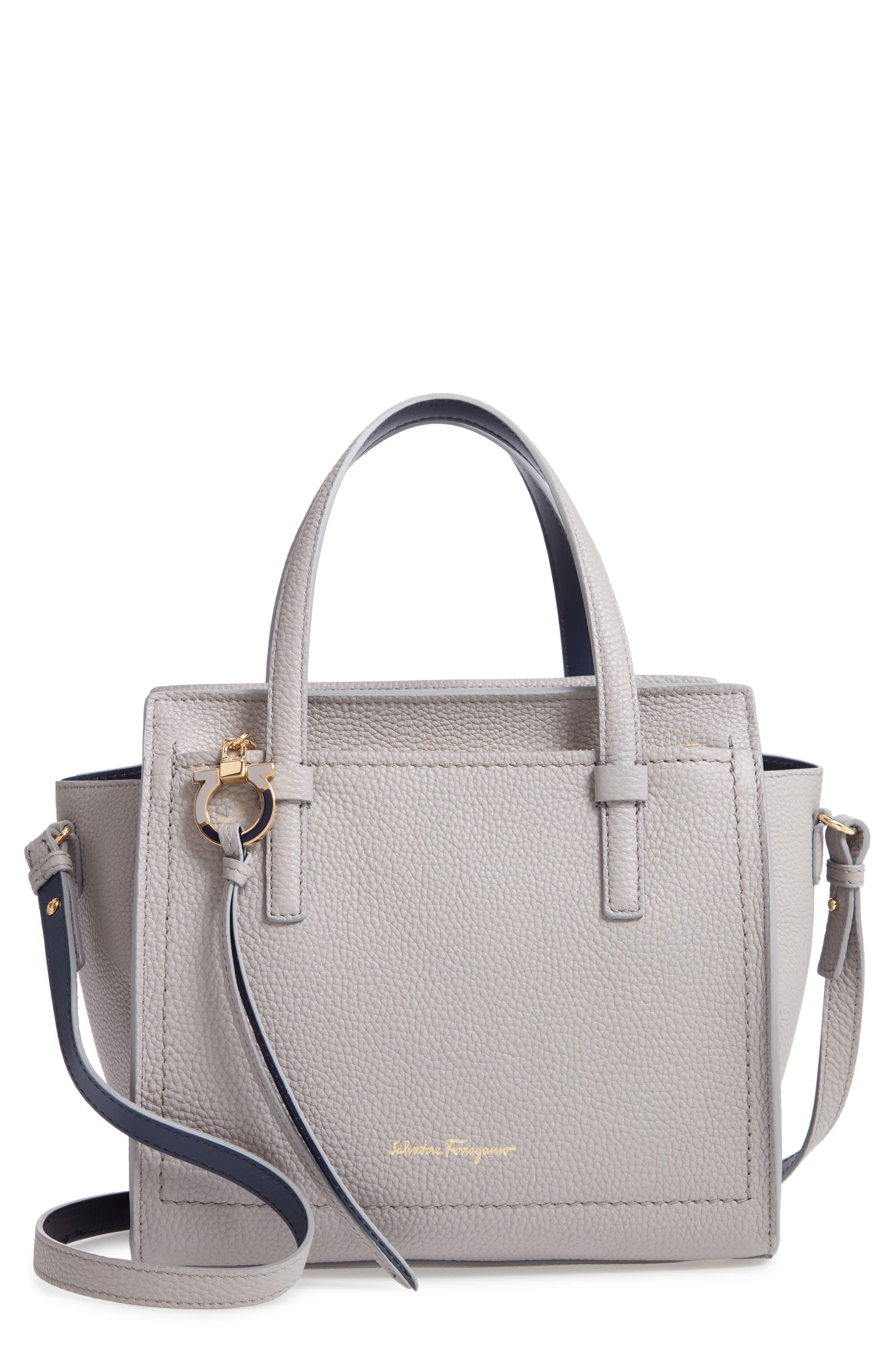 170a540c25 Salvatore Ferragamo Amy Piccolo Leather Tote - Grey