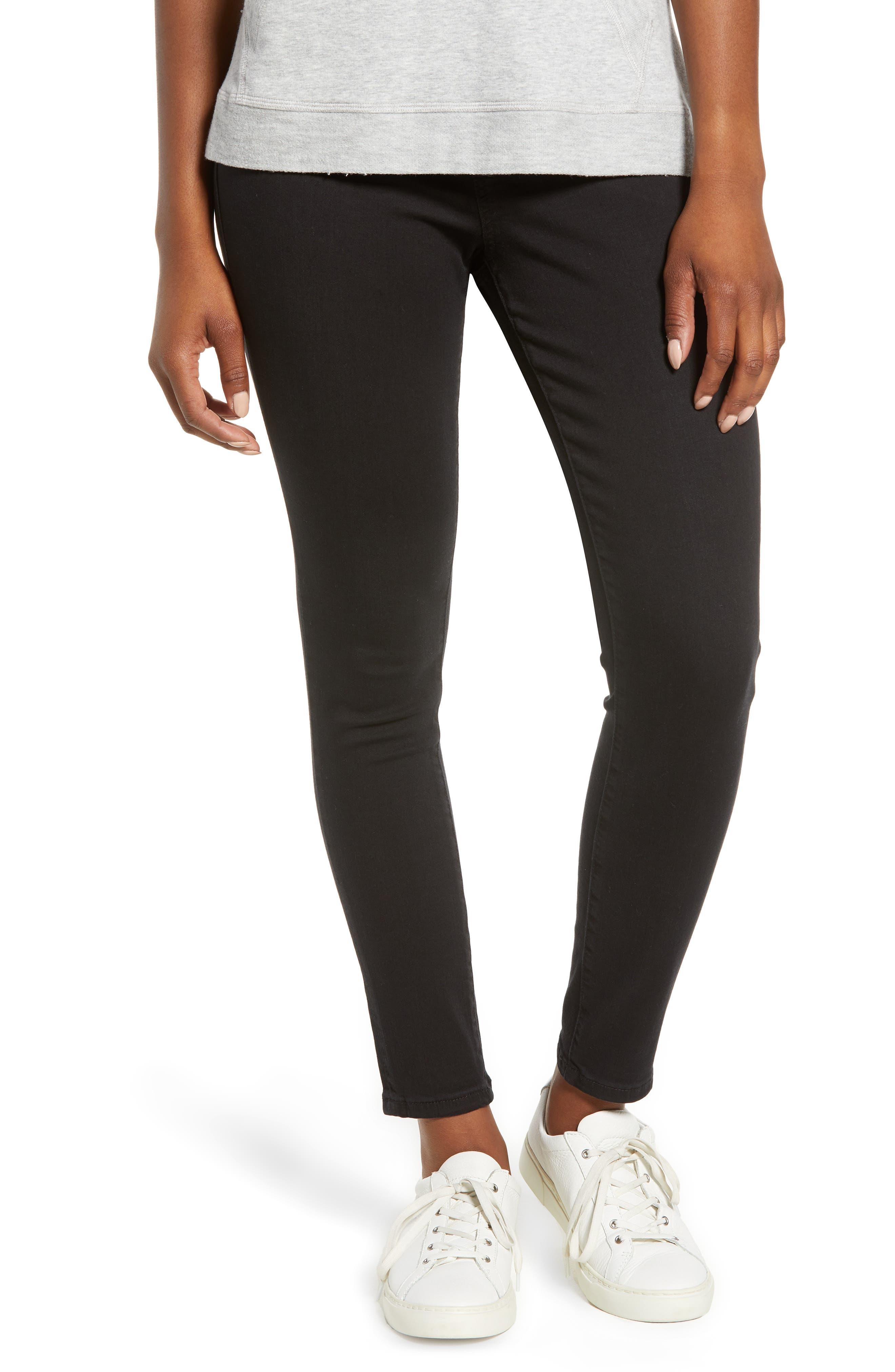 JAG JEANS Marla Stretch Denim Leggings, Main, color, BLACK
