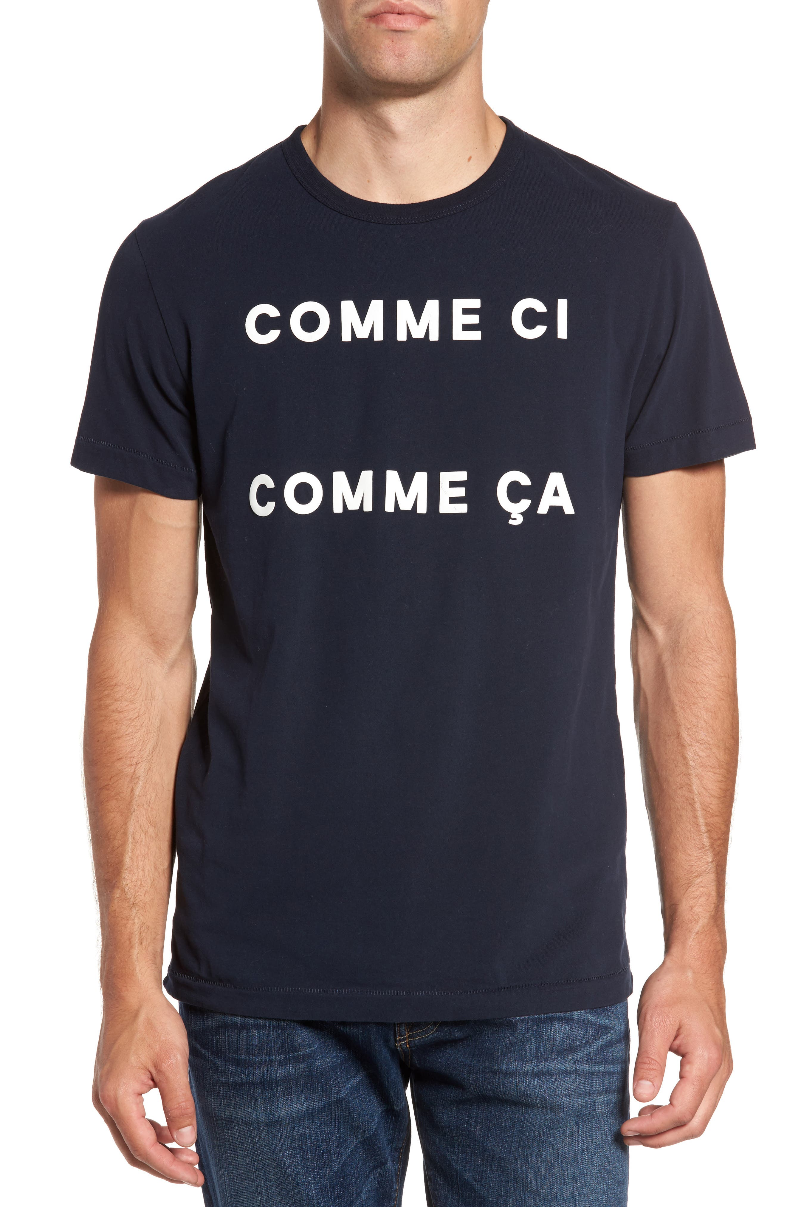 FRENCH CONNECTION Comme Ci Comme Ça Regular Fit T-Shirt, Main, color, 404