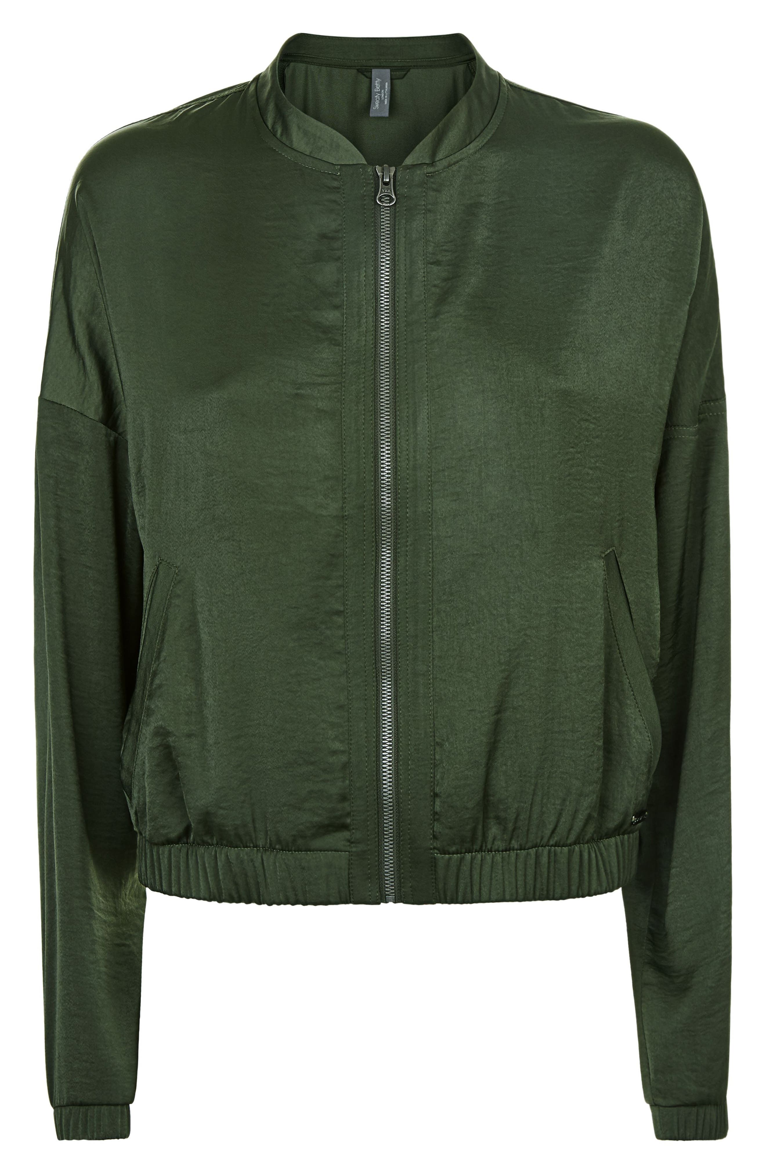 Cargo Luxe Jacket,                             Alternate thumbnail 5, color,                             OLIVE