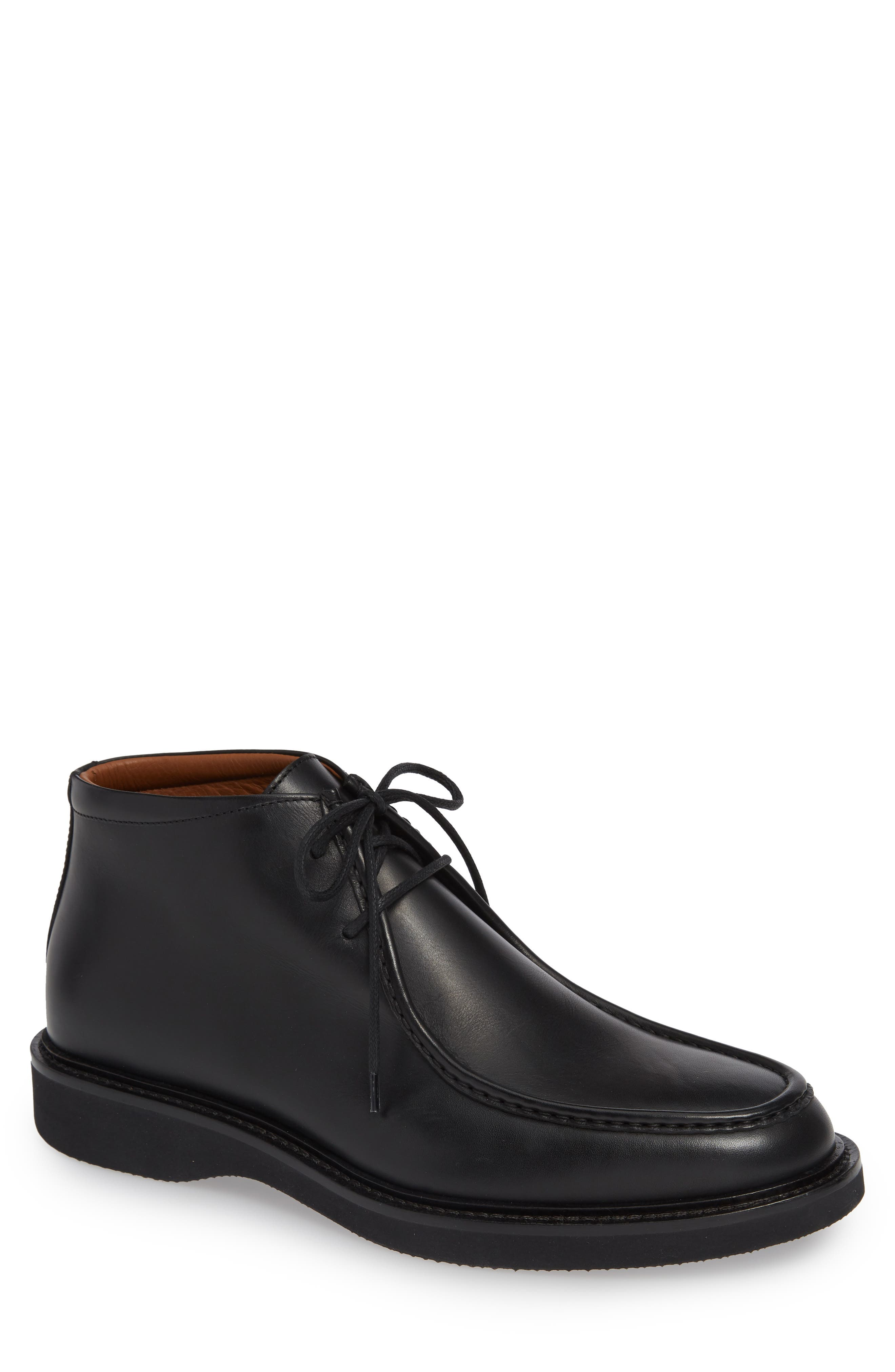 Kyle Weatherproof Chukka Boot,                             Main thumbnail 1, color,                             BLACK LEATHER