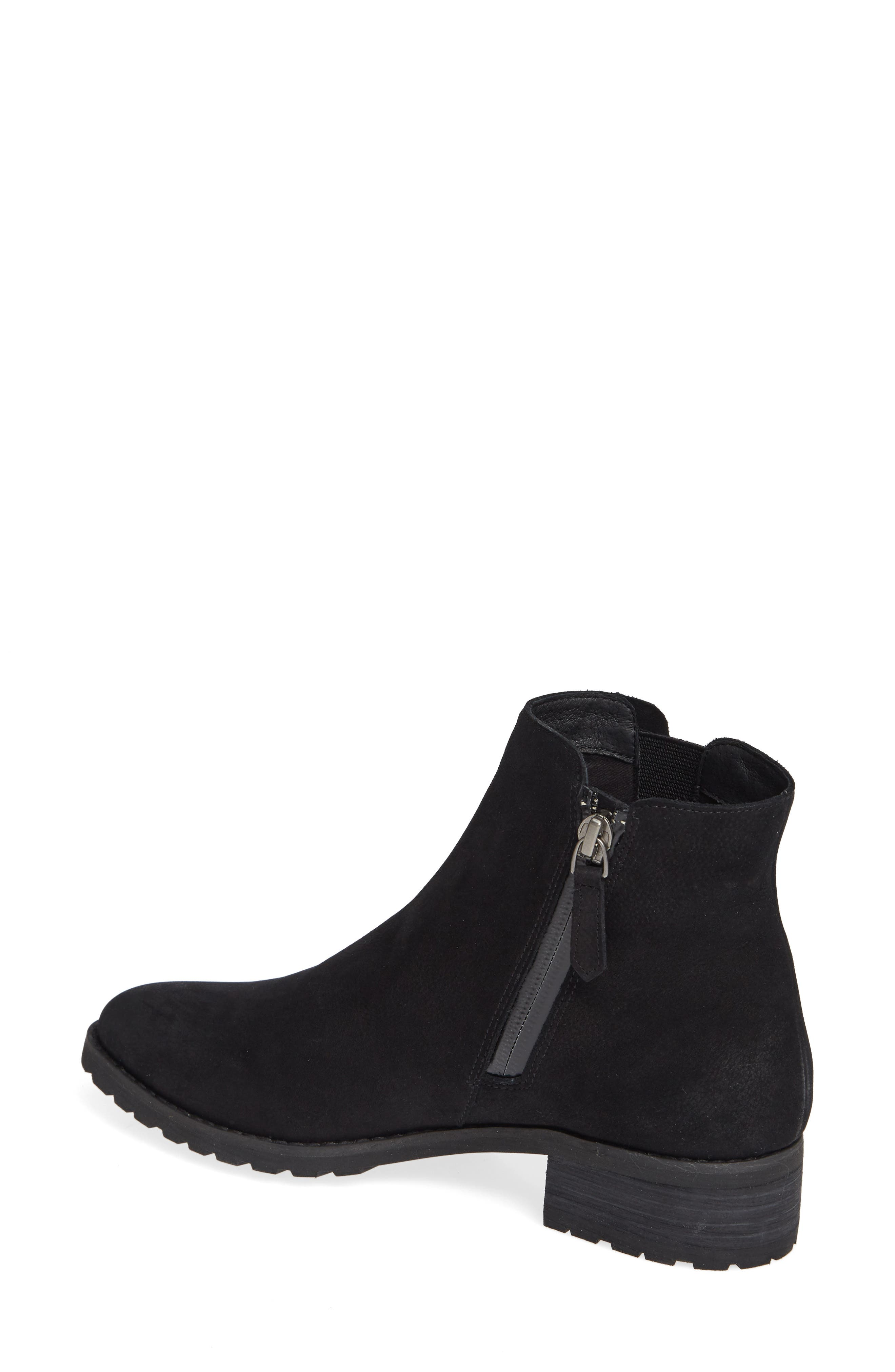 Ollie Water Resistant Bootie,                             Alternate thumbnail 2, color,                             BLACK OILED NUBUCK