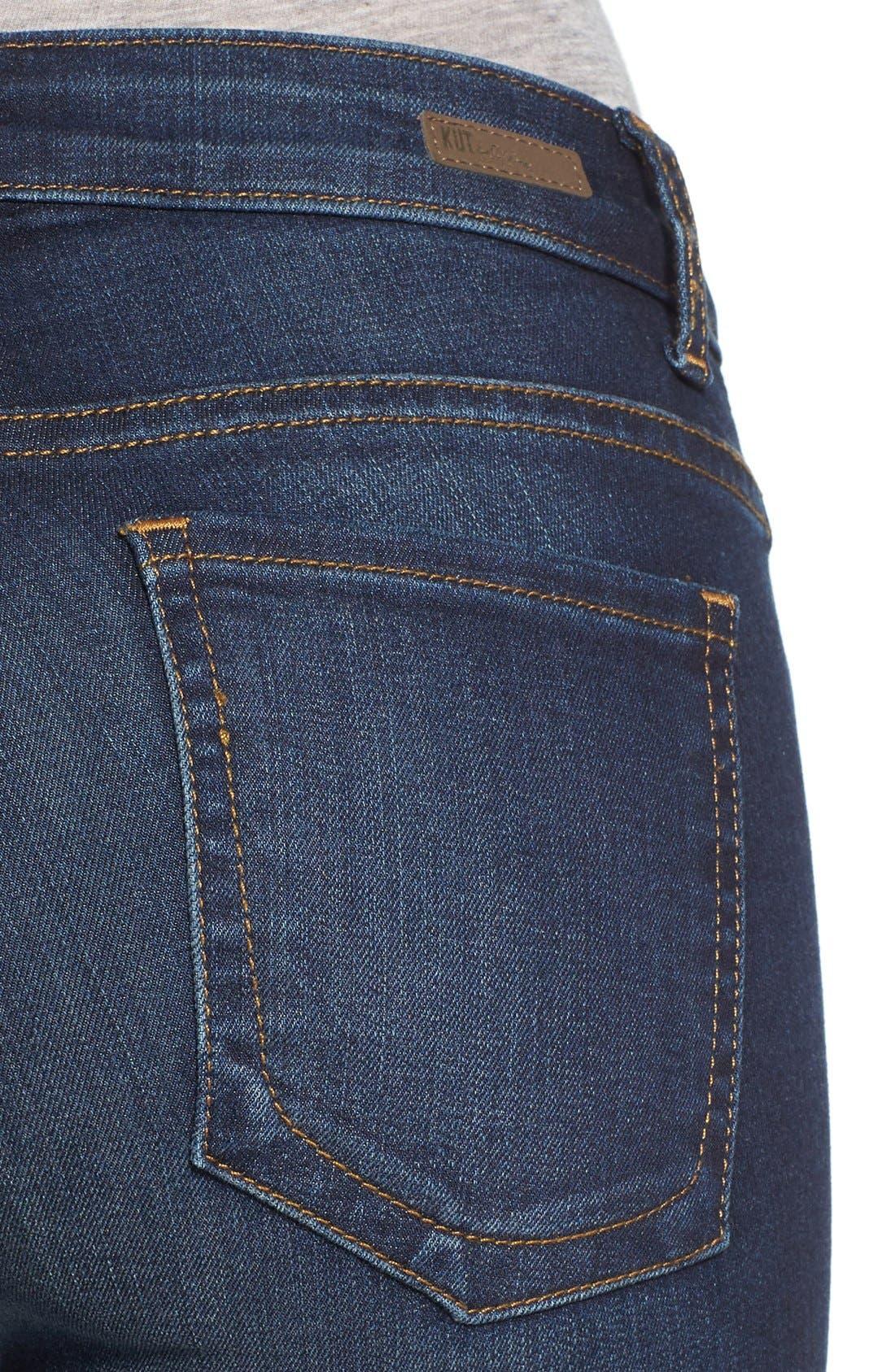 'Natalie' Stretch Bootleg Jeans,                             Alternate thumbnail 5, color,                             401