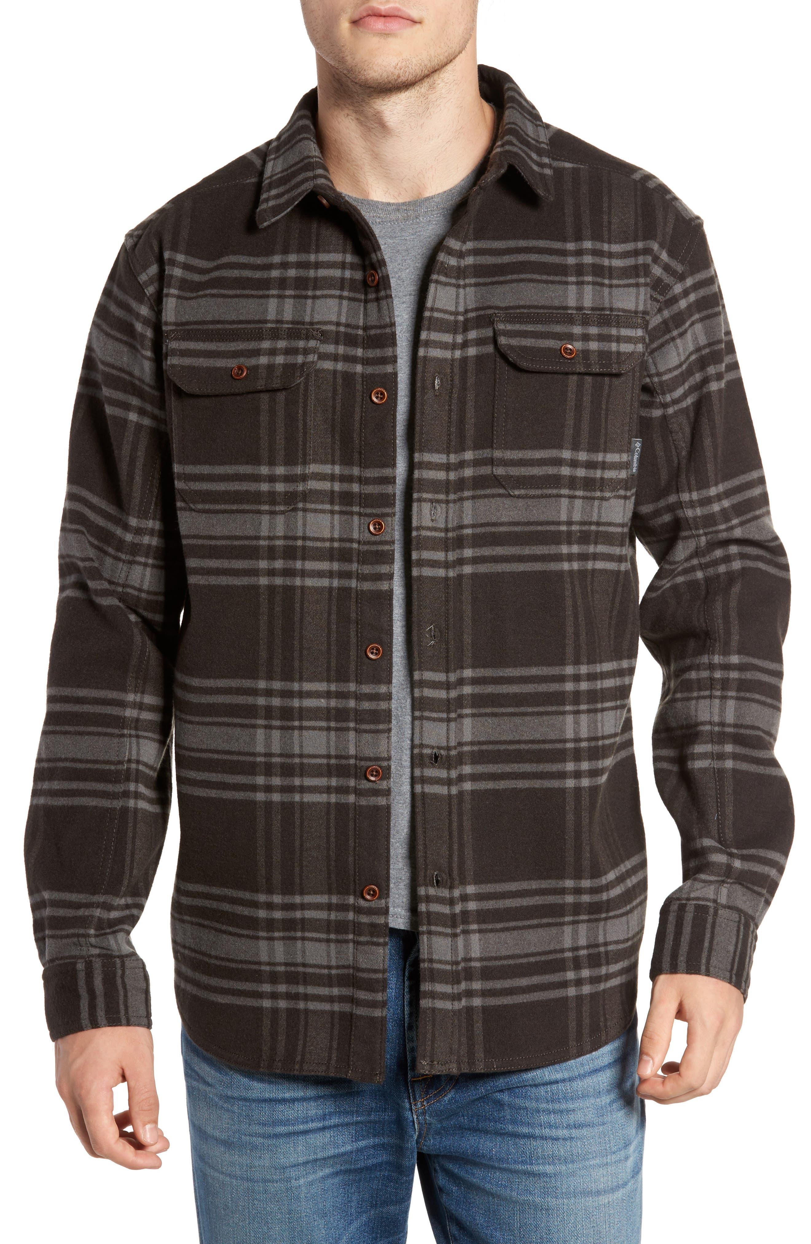 Deschutes River<sup>™</sup> Heavyweight Flannel Shirt Jacket,                         Main,                         color, 200