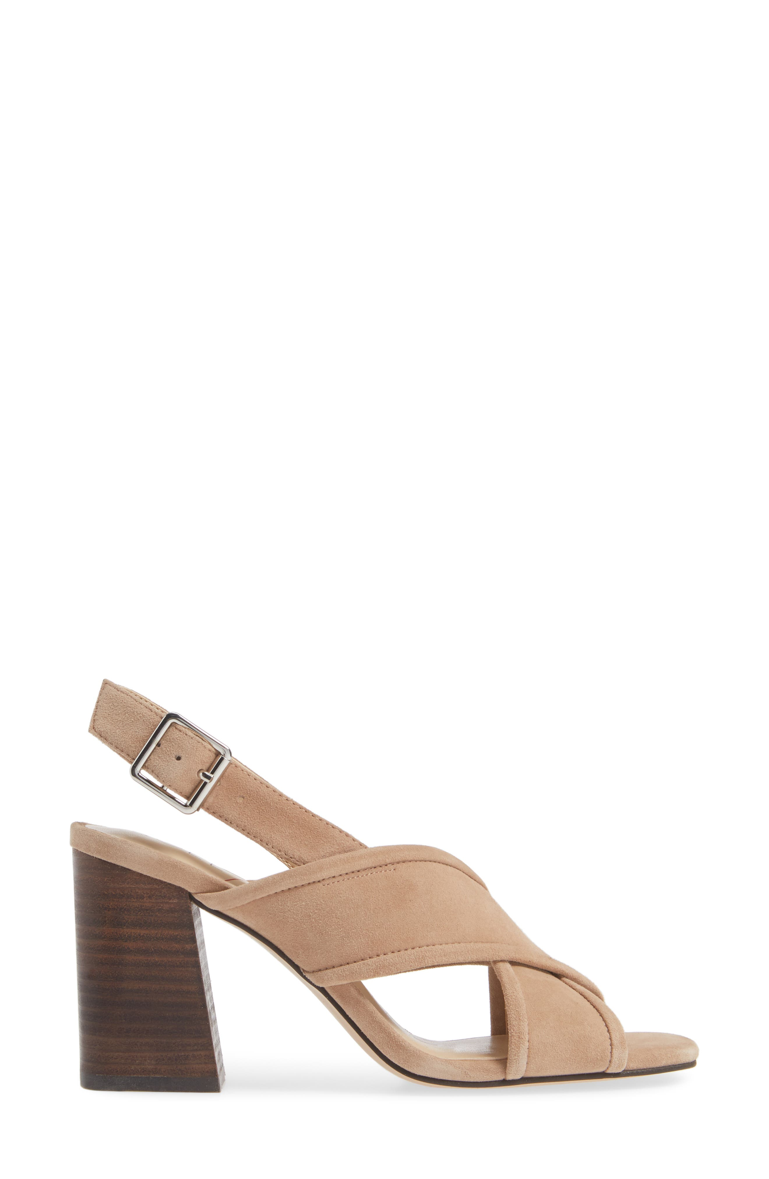 Joree Slingback Sandal,                             Alternate thumbnail 3, color,                             DUSTED TAUPE SUEDE