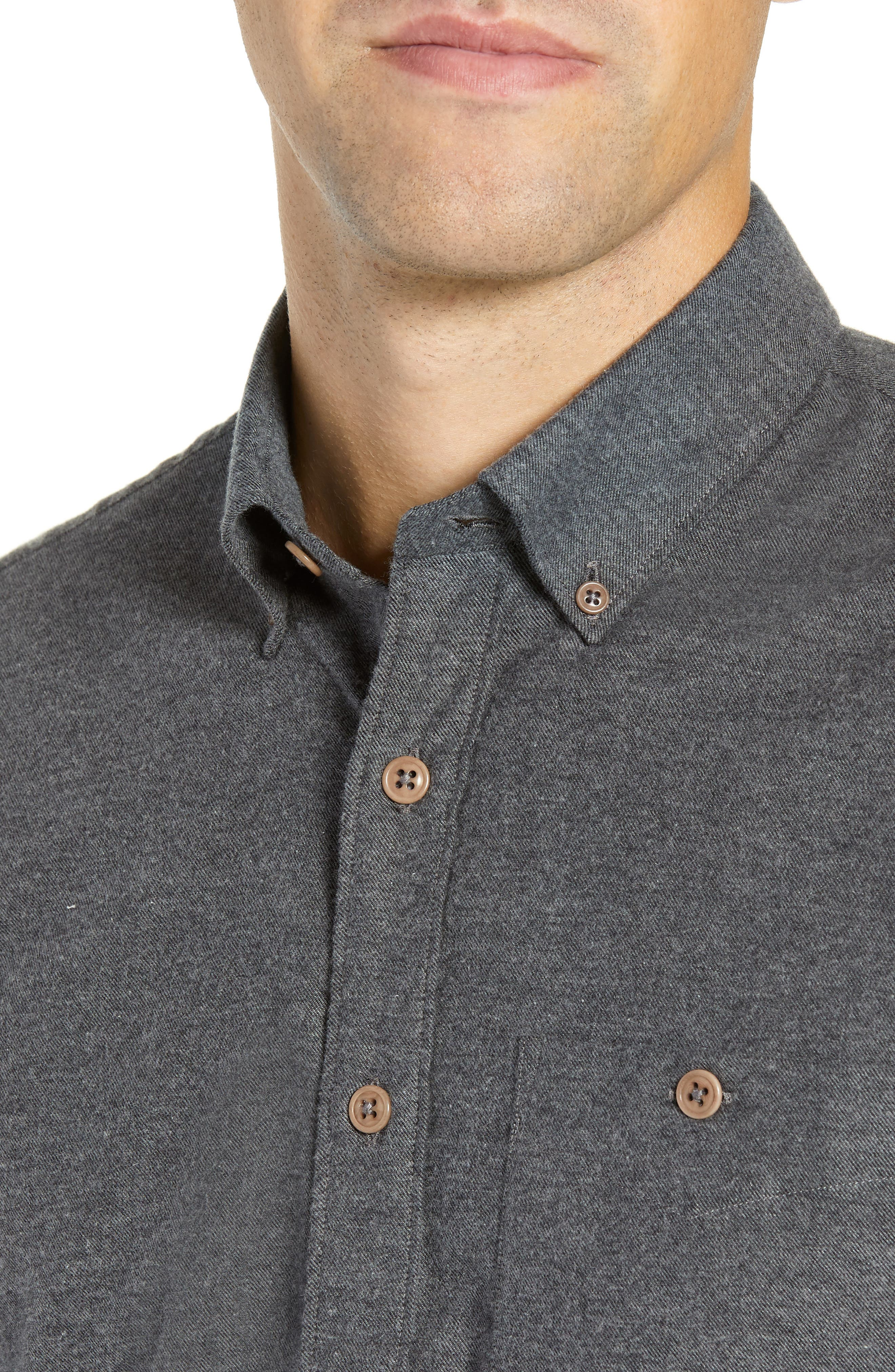 Brushed Cotton & Cashmere Twill Sport Shirt,                             Alternate thumbnail 2, color,                             020