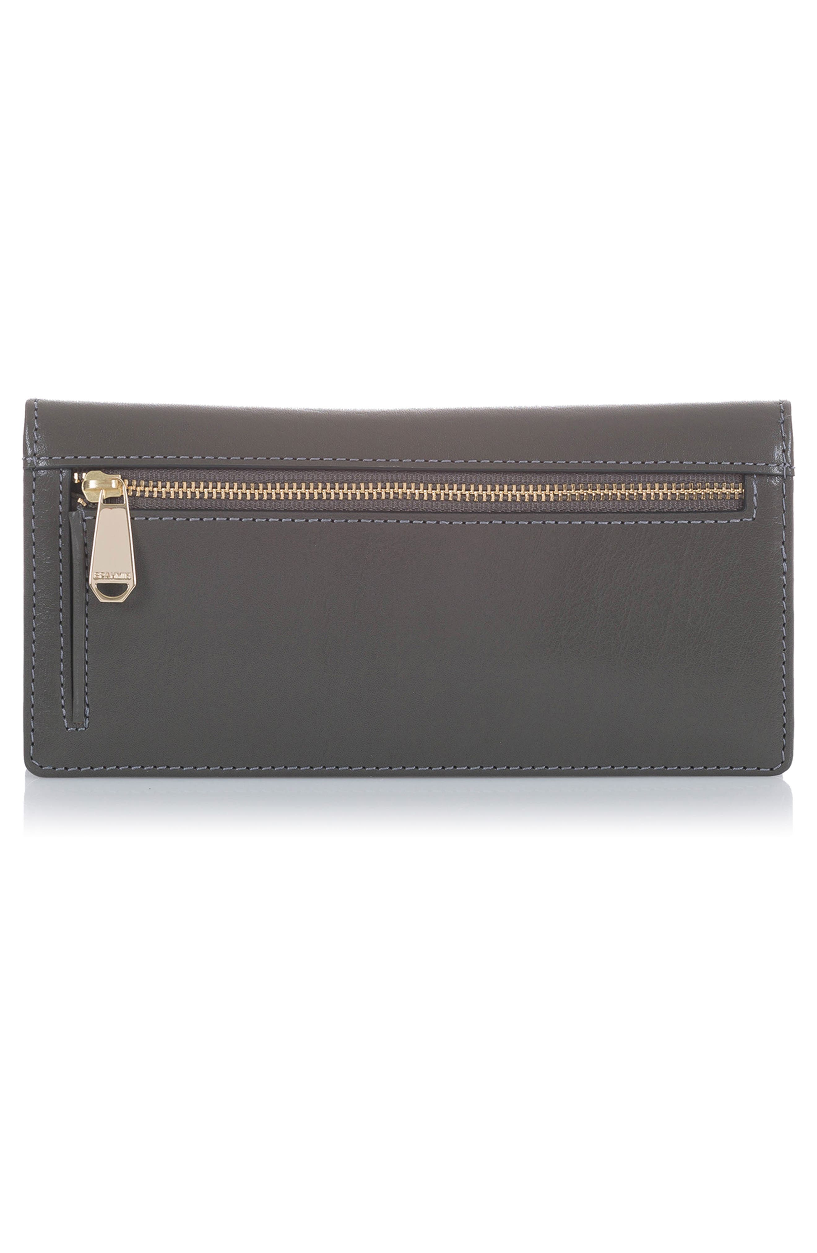 Ady Leather Wallet,                             Alternate thumbnail 3, color,                             CHARCOAL