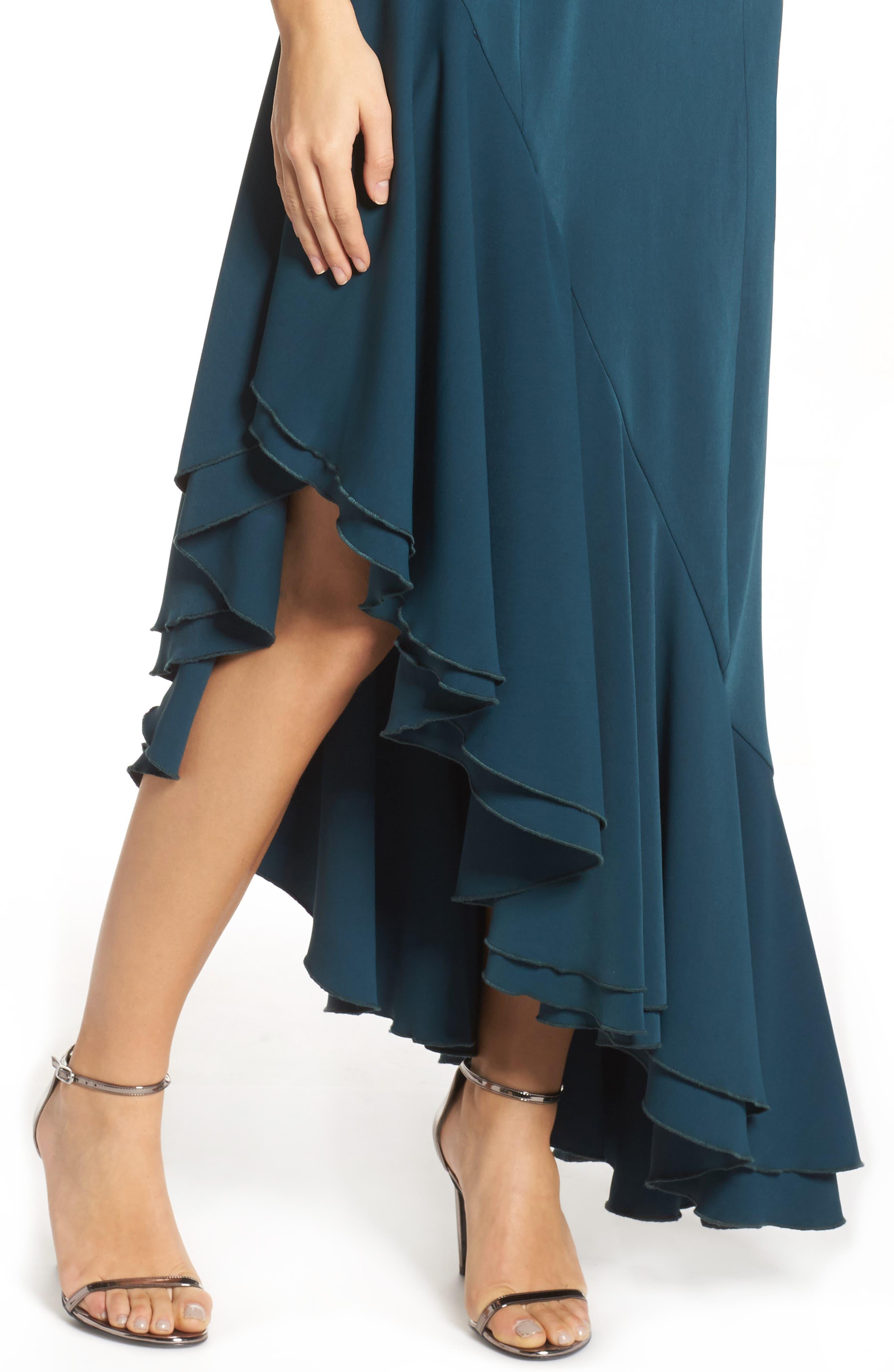 Temptation Asymmetrical Gown,                             Alternate thumbnail 4, color,                             300