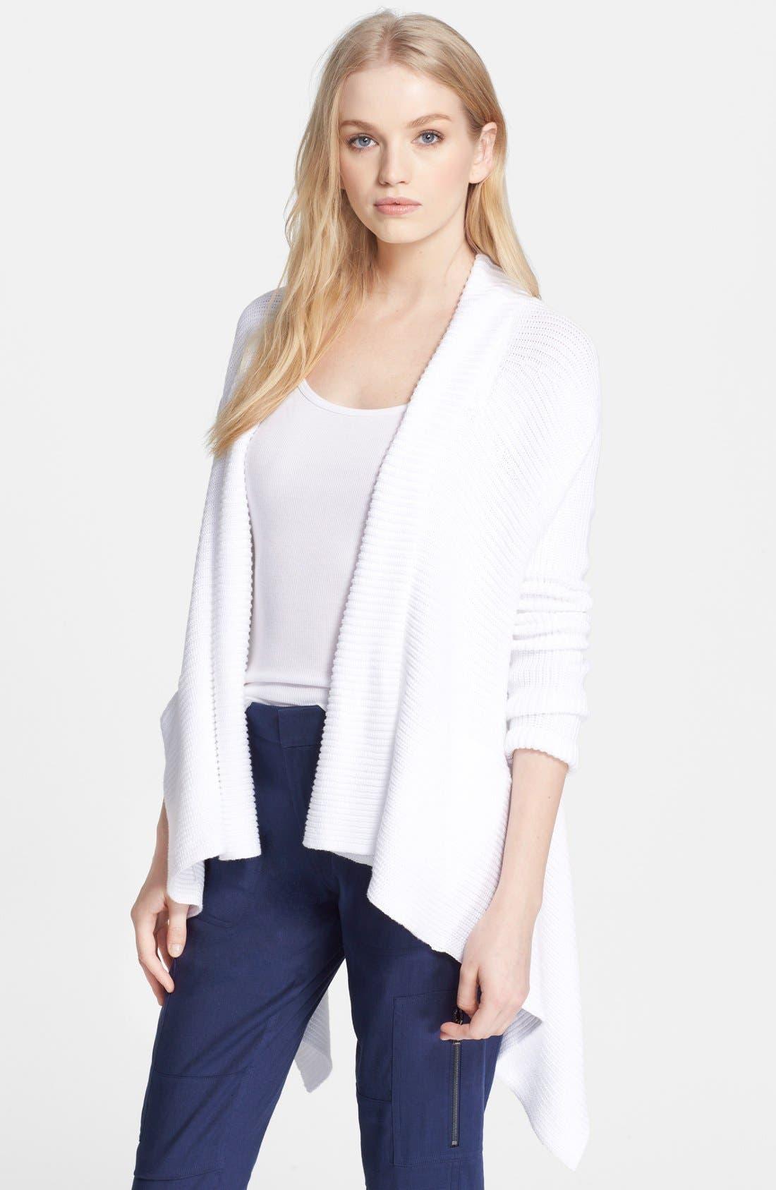 Cotton Drape Front Cardigan, Main, color, 137