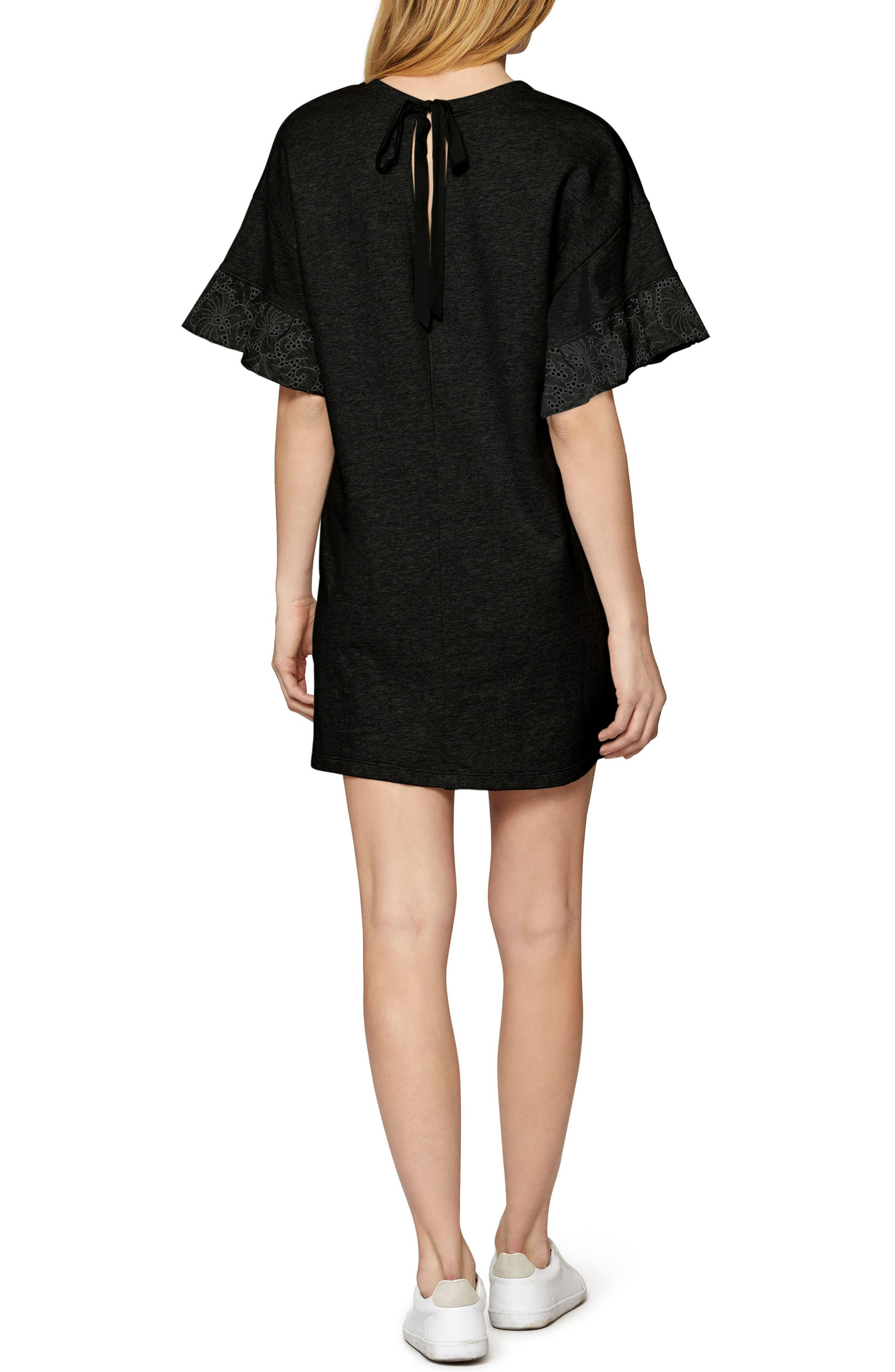 Tamara Knit Shift Dress,                             Alternate thumbnail 2, color,                             001