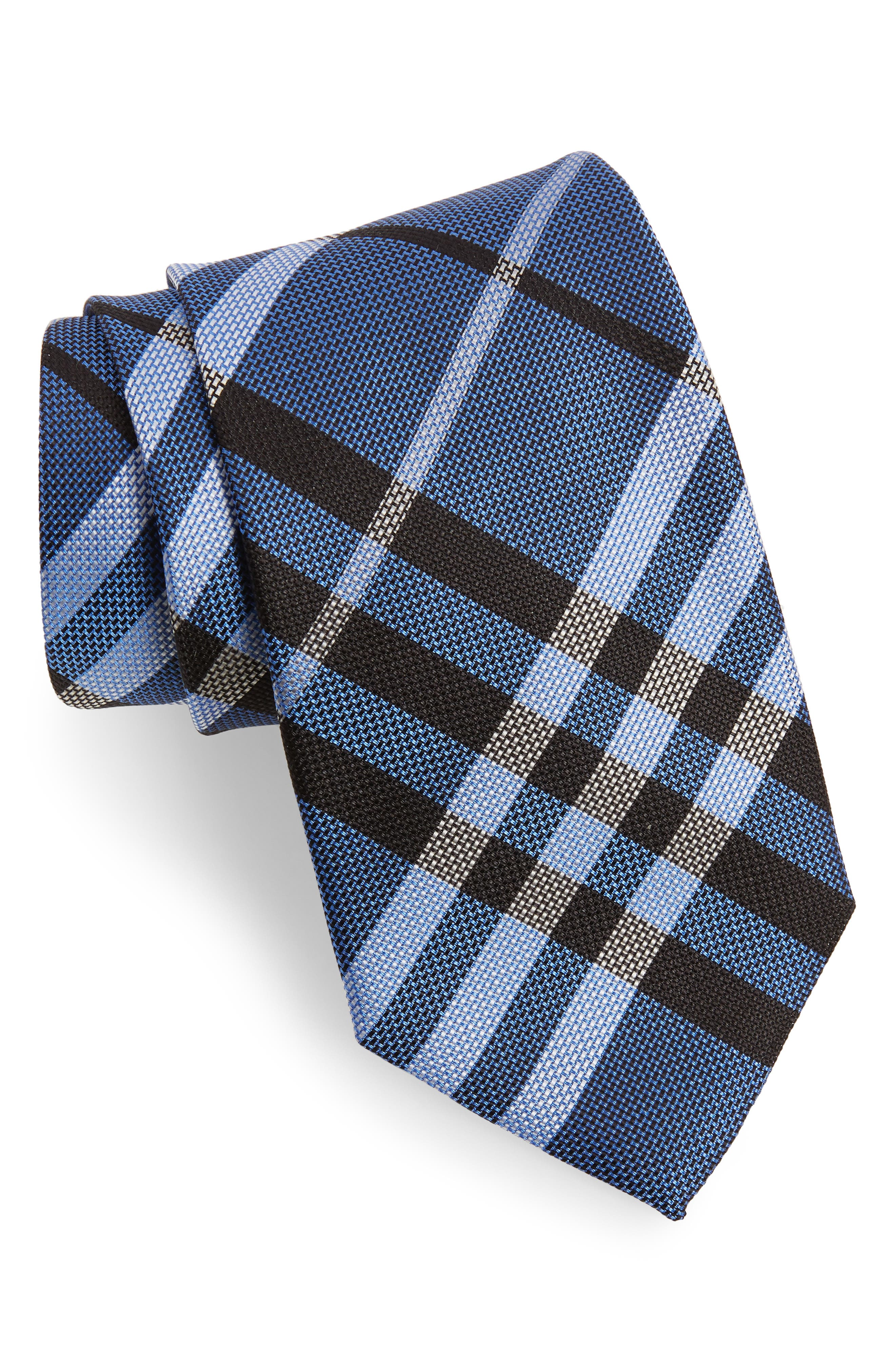 Check Silk Tie,                             Main thumbnail 2, color,