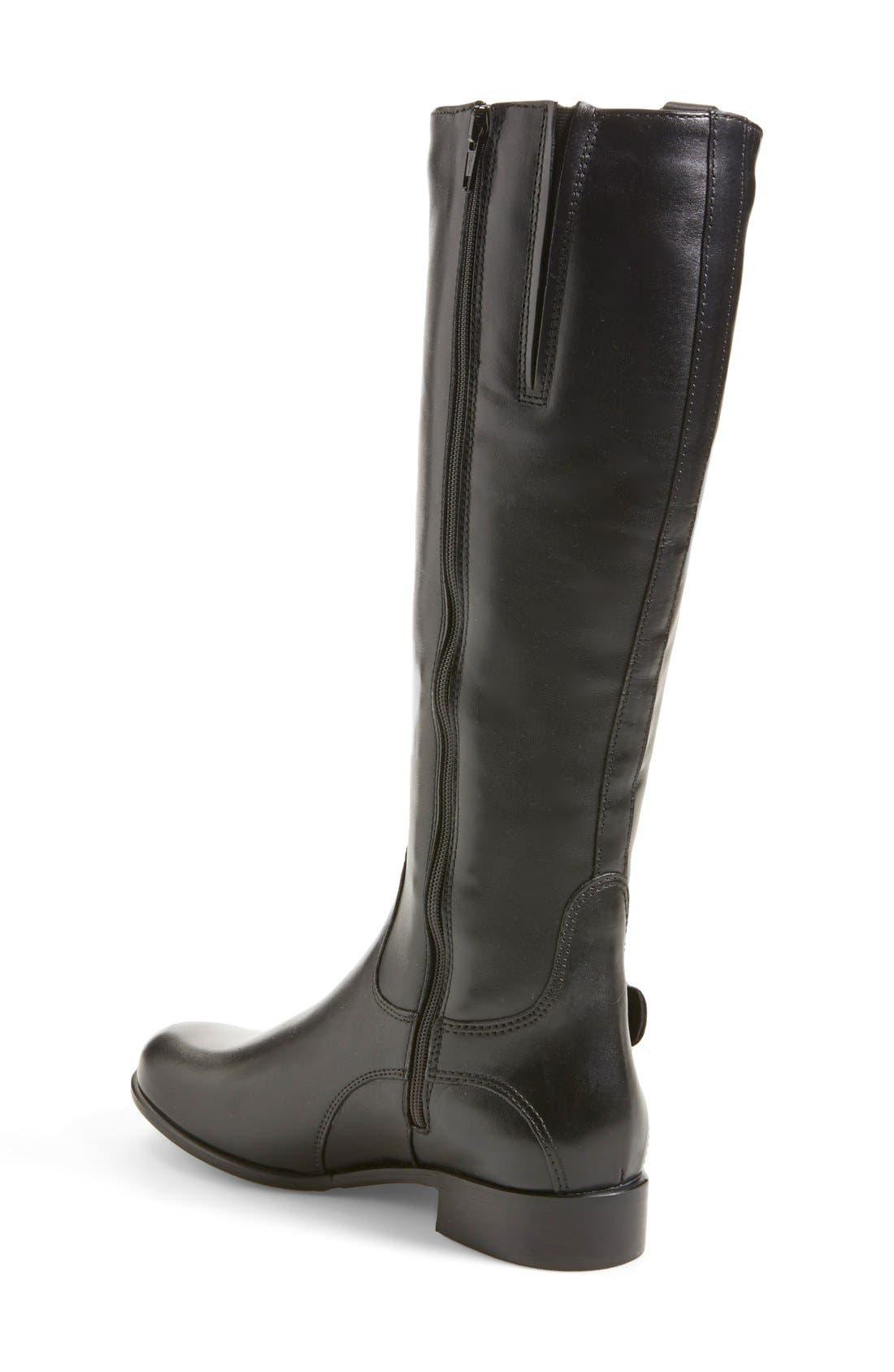 'Stefanie' Waterproof Boot,                             Alternate thumbnail 8, color,                             BLACK LEATHER