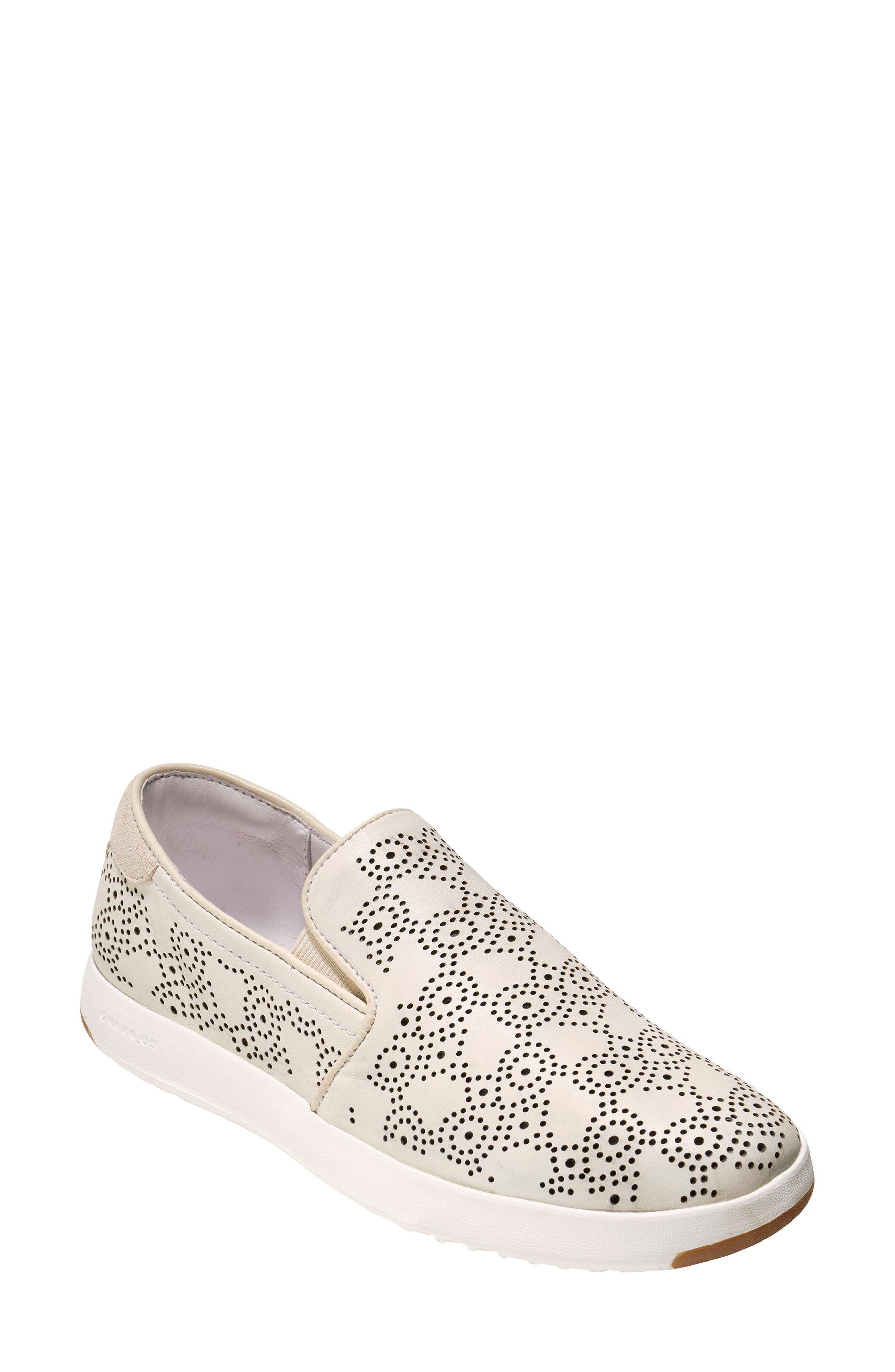 GrandPro Perforated Slip-On Sneaker,                             Main thumbnail 1, color,