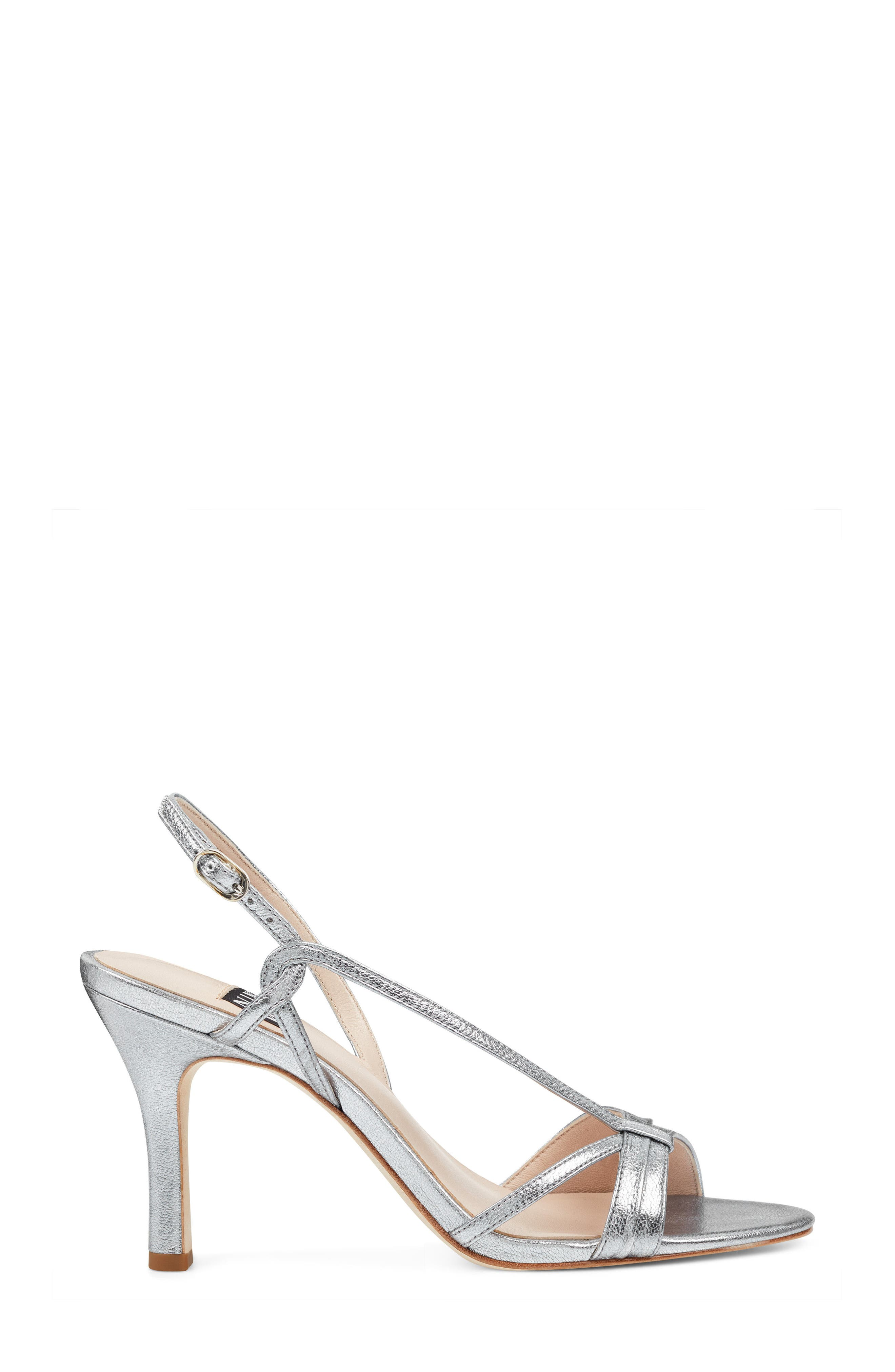 Accolia - 40th Anniversary Capsule Collection Sandal,                             Alternate thumbnail 3, color,                             SILVER LEATHER