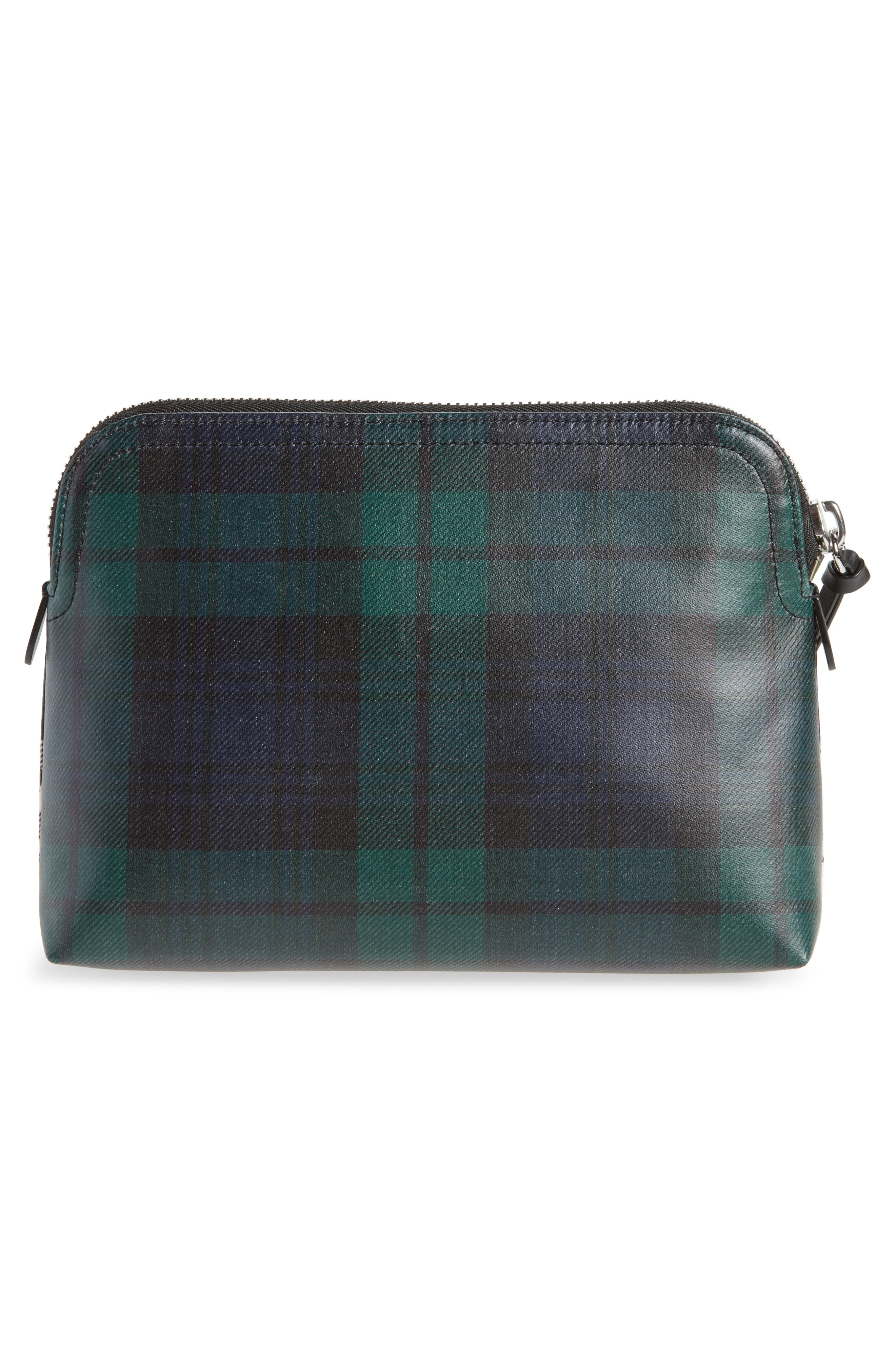 Laminated Tartan Pouch,                             Alternate thumbnail 3, color,                             001