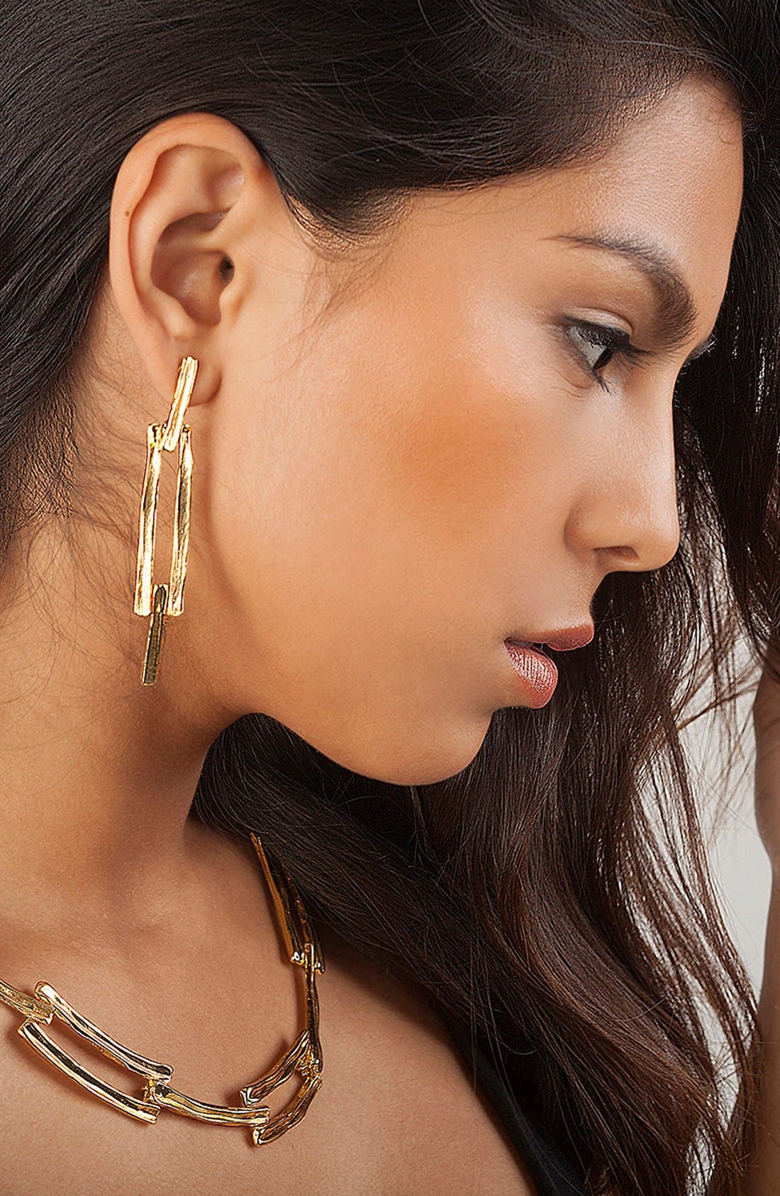 Drop Earrings,                             Alternate thumbnail 3, color,                             GOLD