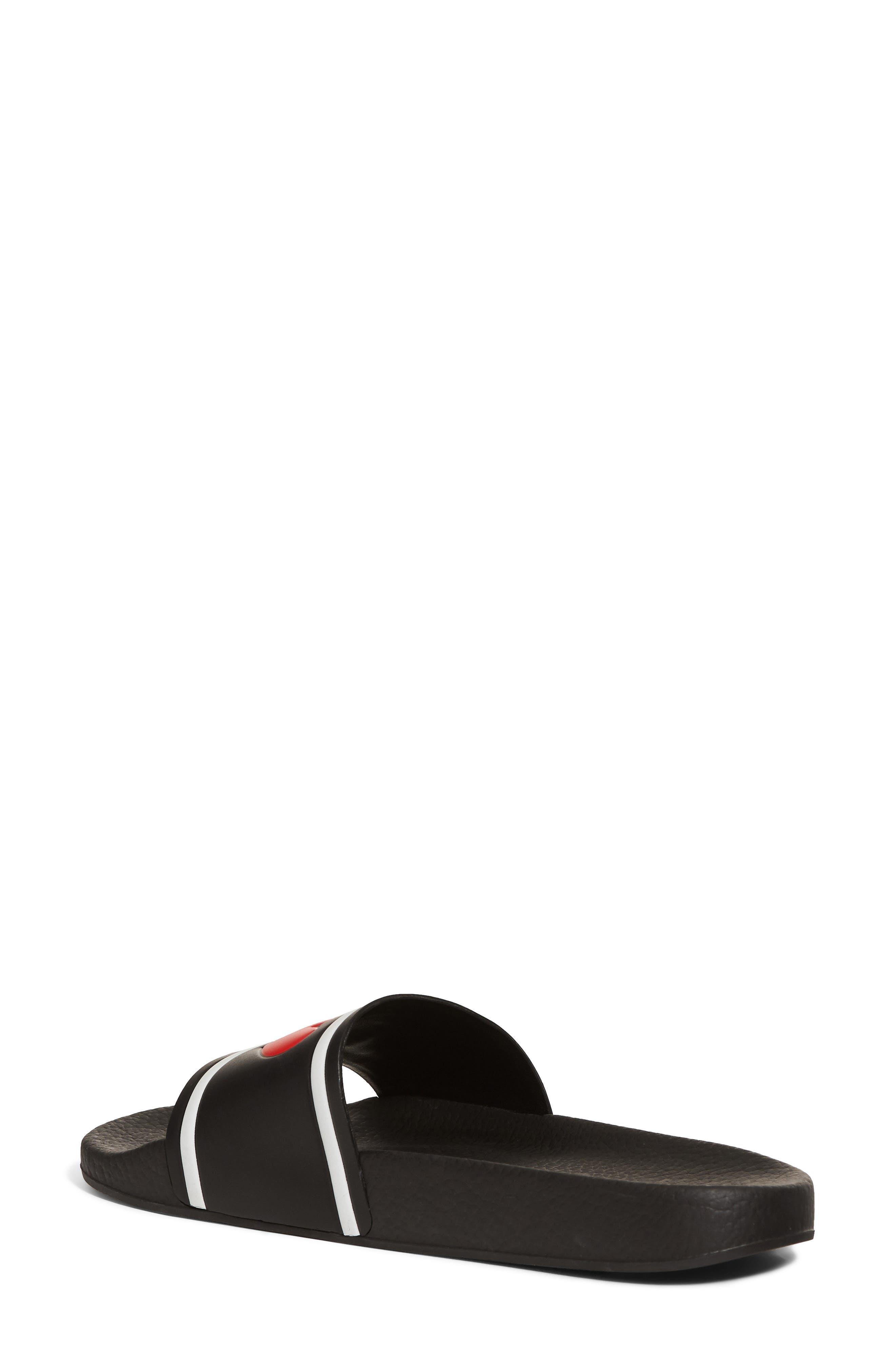 I Love DG Slide Sandal,                             Alternate thumbnail 2, color,                             BLACK