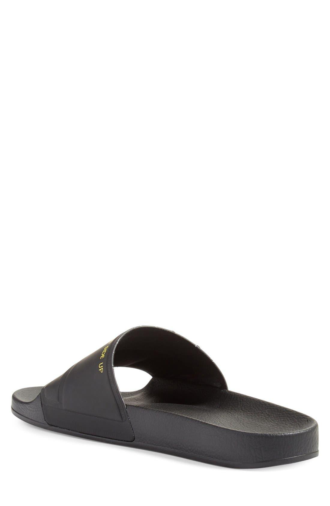 adidas by Raf Simons Bunny Adilette Slide Sandal,                             Alternate thumbnail 4, color,                             001