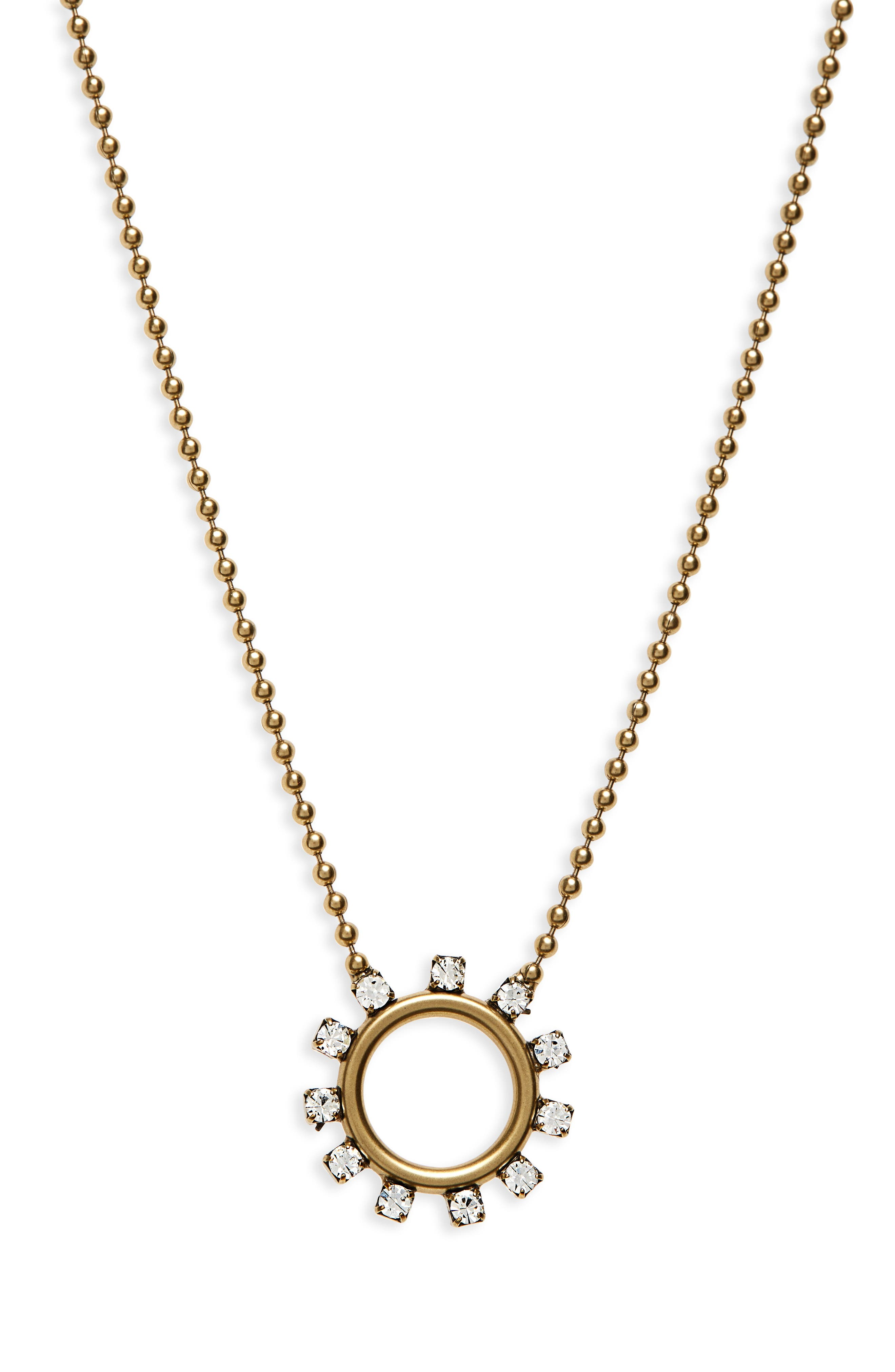Maggie Delicate Hoop Necklace,                             Main thumbnail 1, color,                             710