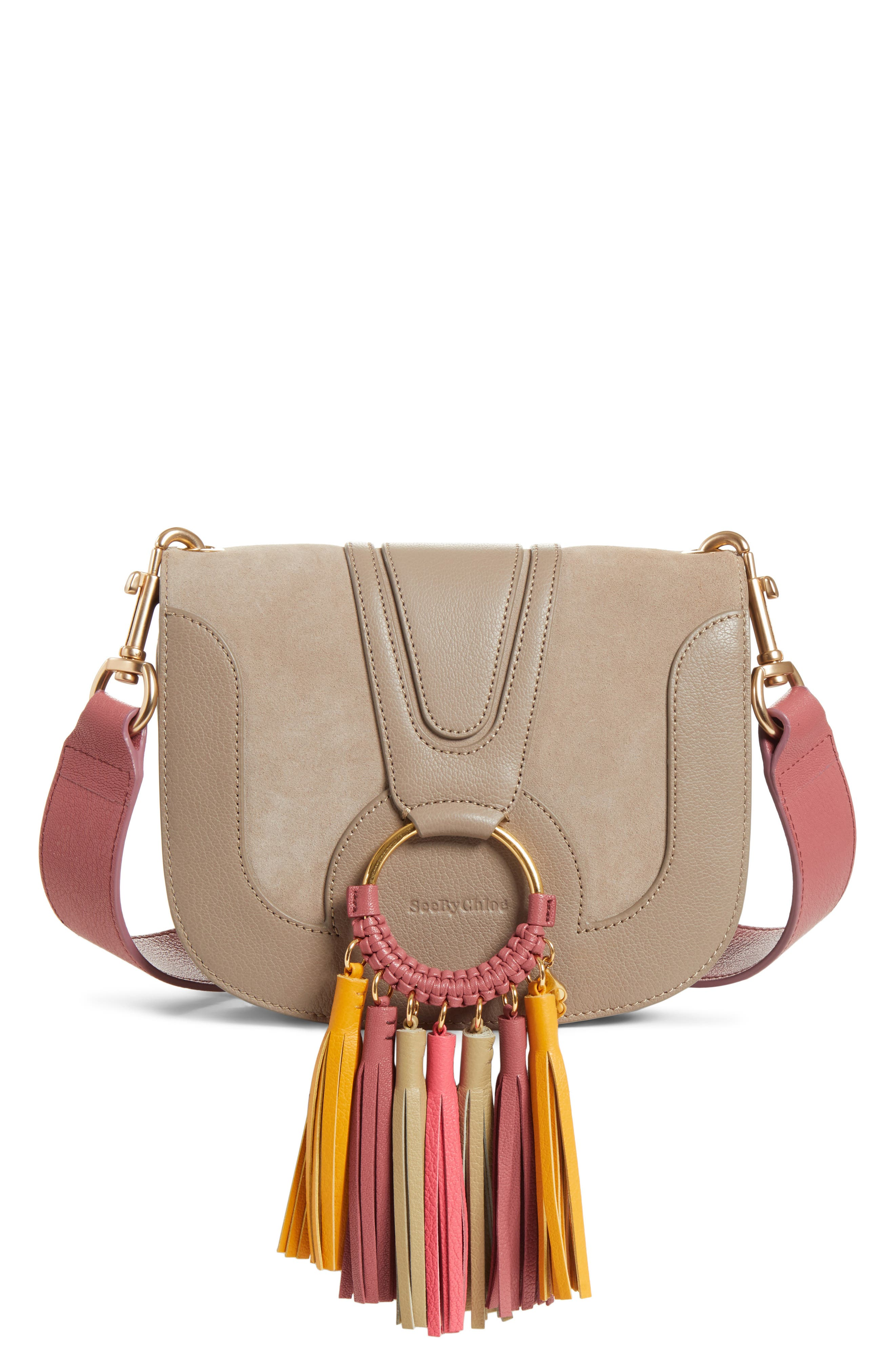 Hana Leather Shoulder Bag, Main, color, 020