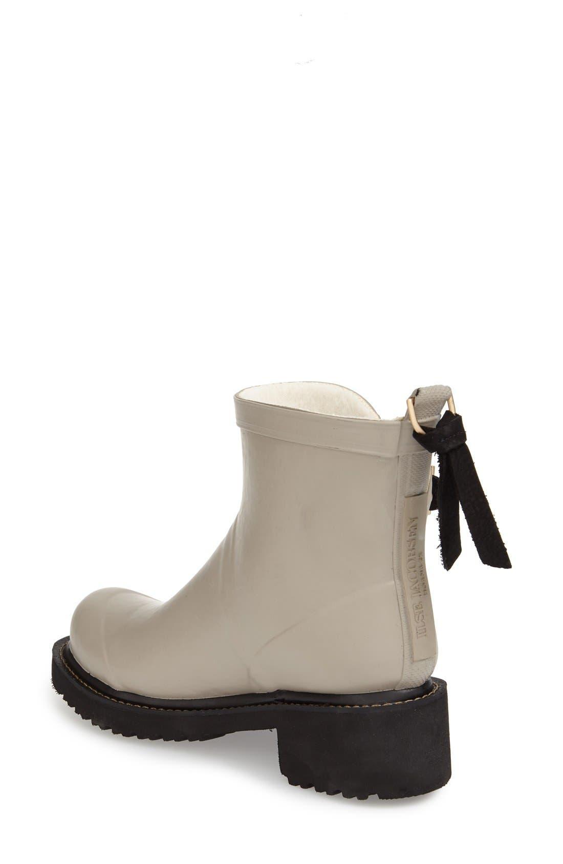 Short Waterproof Rubber Boot,                             Alternate thumbnail 2, color,                             ATMOSPHERE