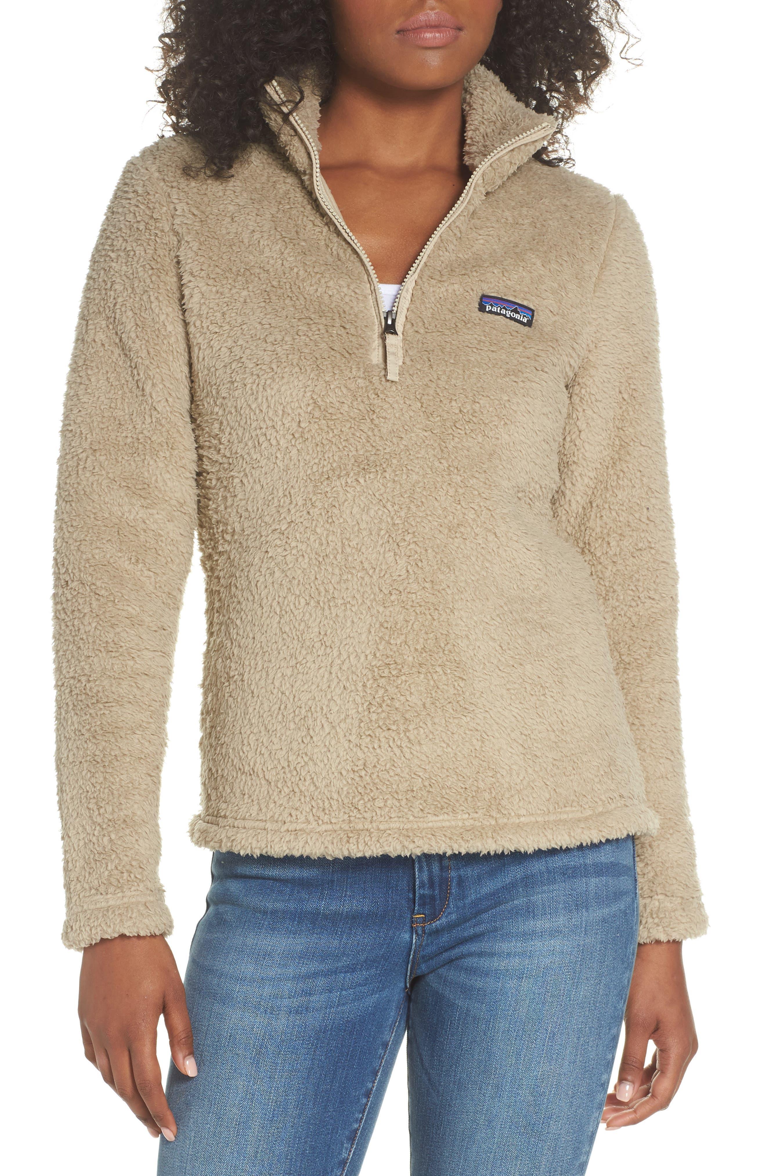 Los Gatos Fleece Pullover,                         Main,                         color, EL CAP KHAKI