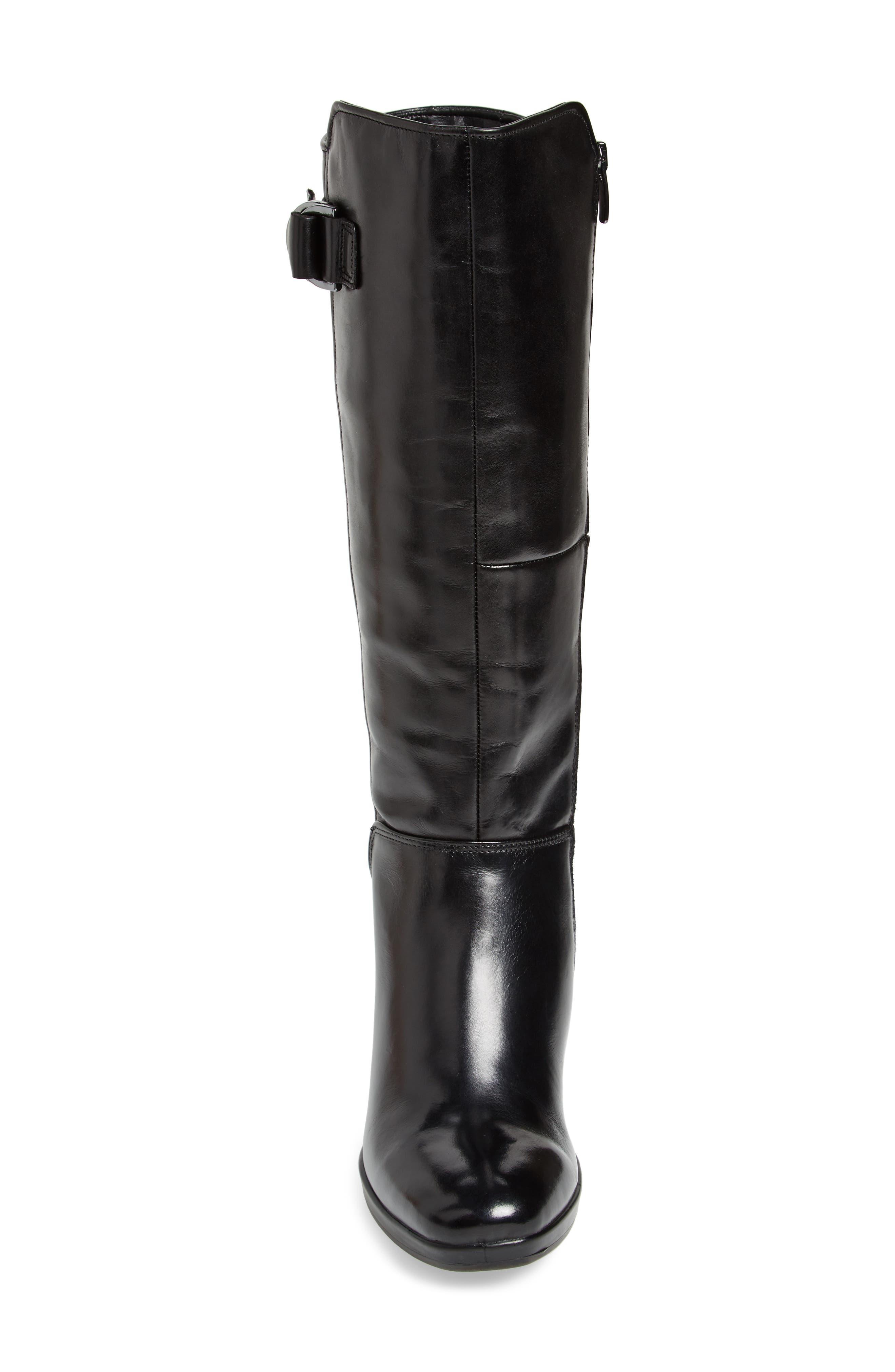 Shape 55 Chalet Boot,                             Alternate thumbnail 4, color,                             BLACK LEATHER