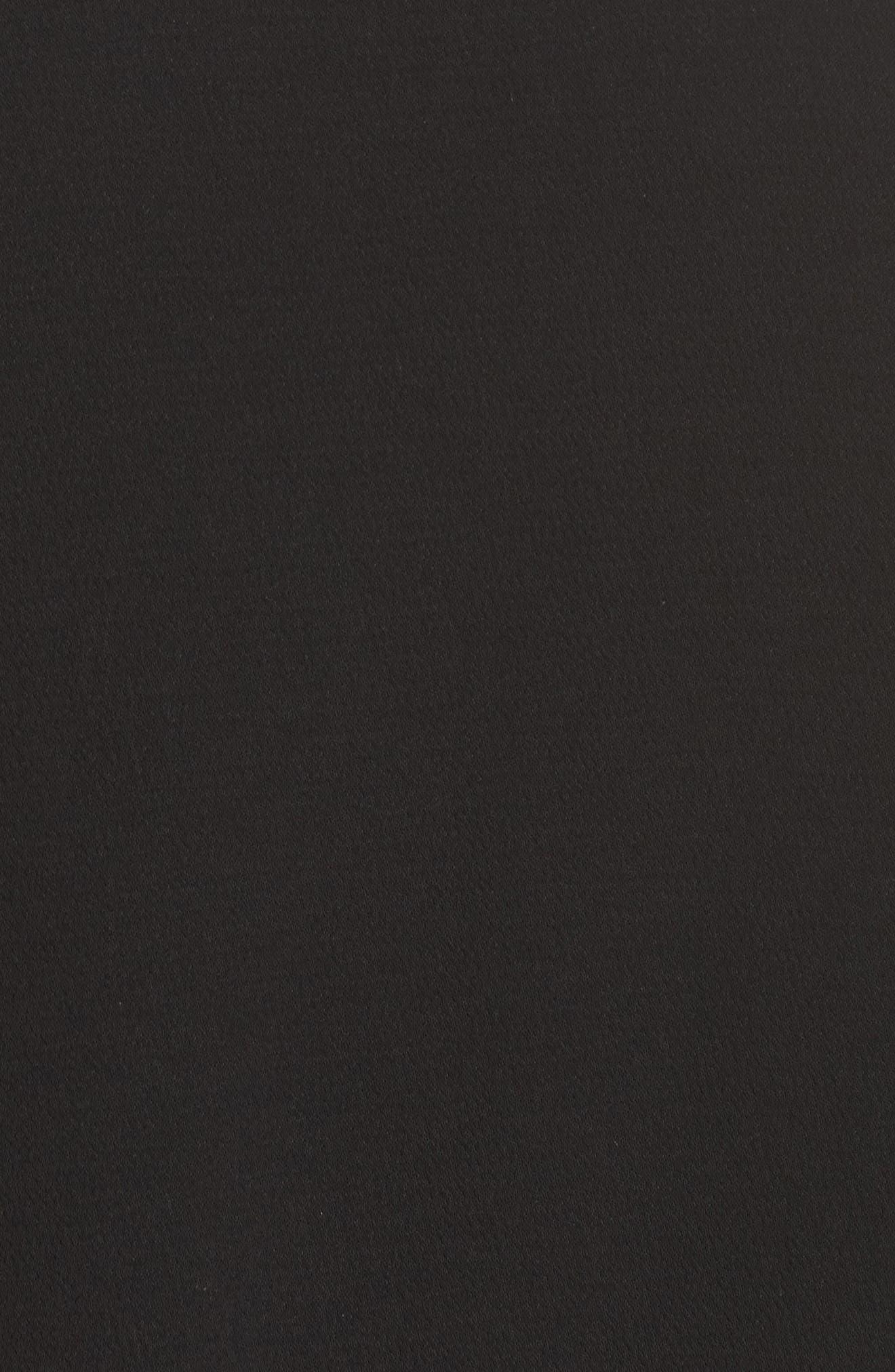 Ruffle Bell Sleeve Shift Dress,                             Alternate thumbnail 5, color,                             001