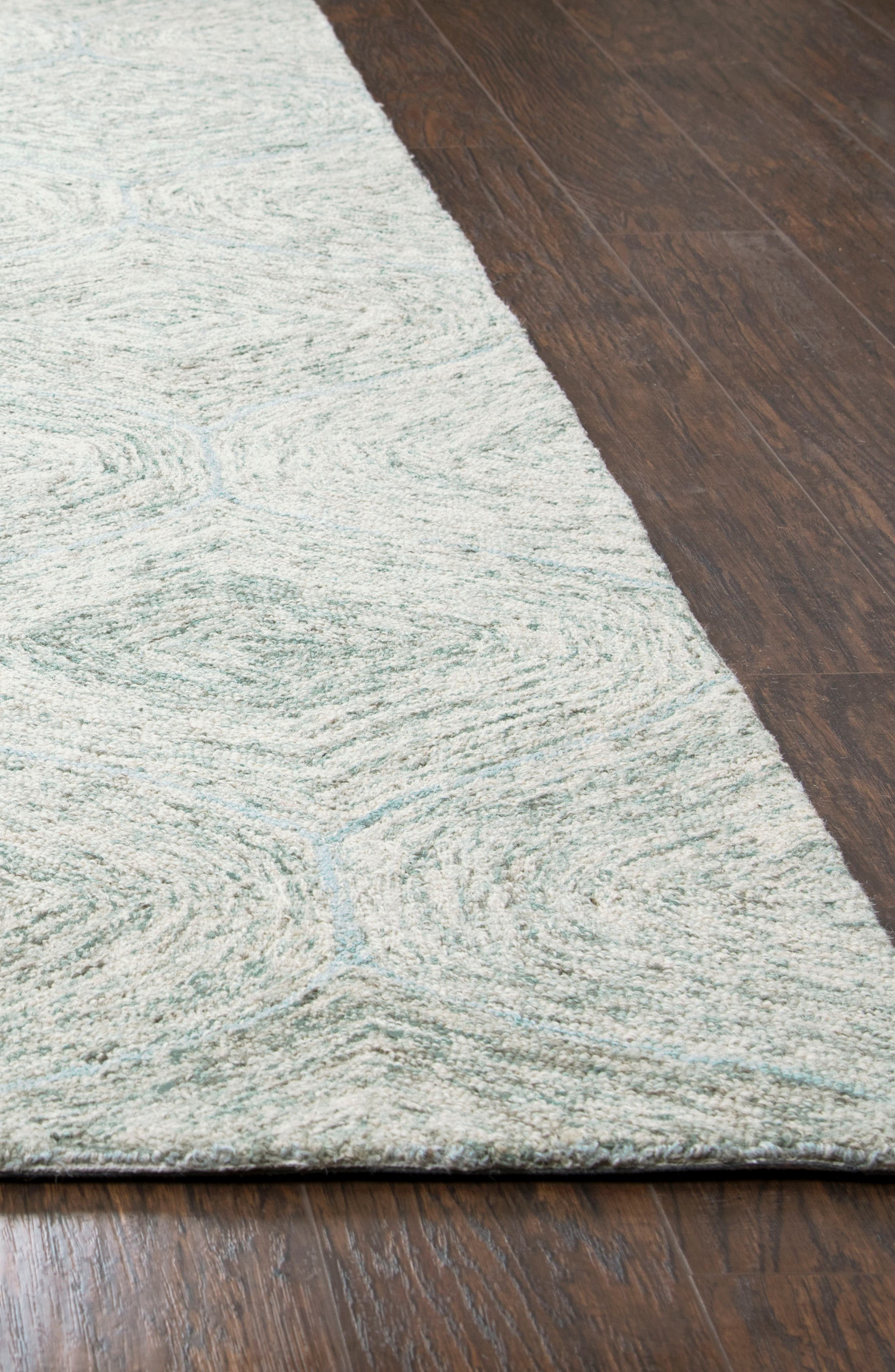 Irregular Diamond Hand Tufted Wool Area Rug,                             Alternate thumbnail 18, color,
