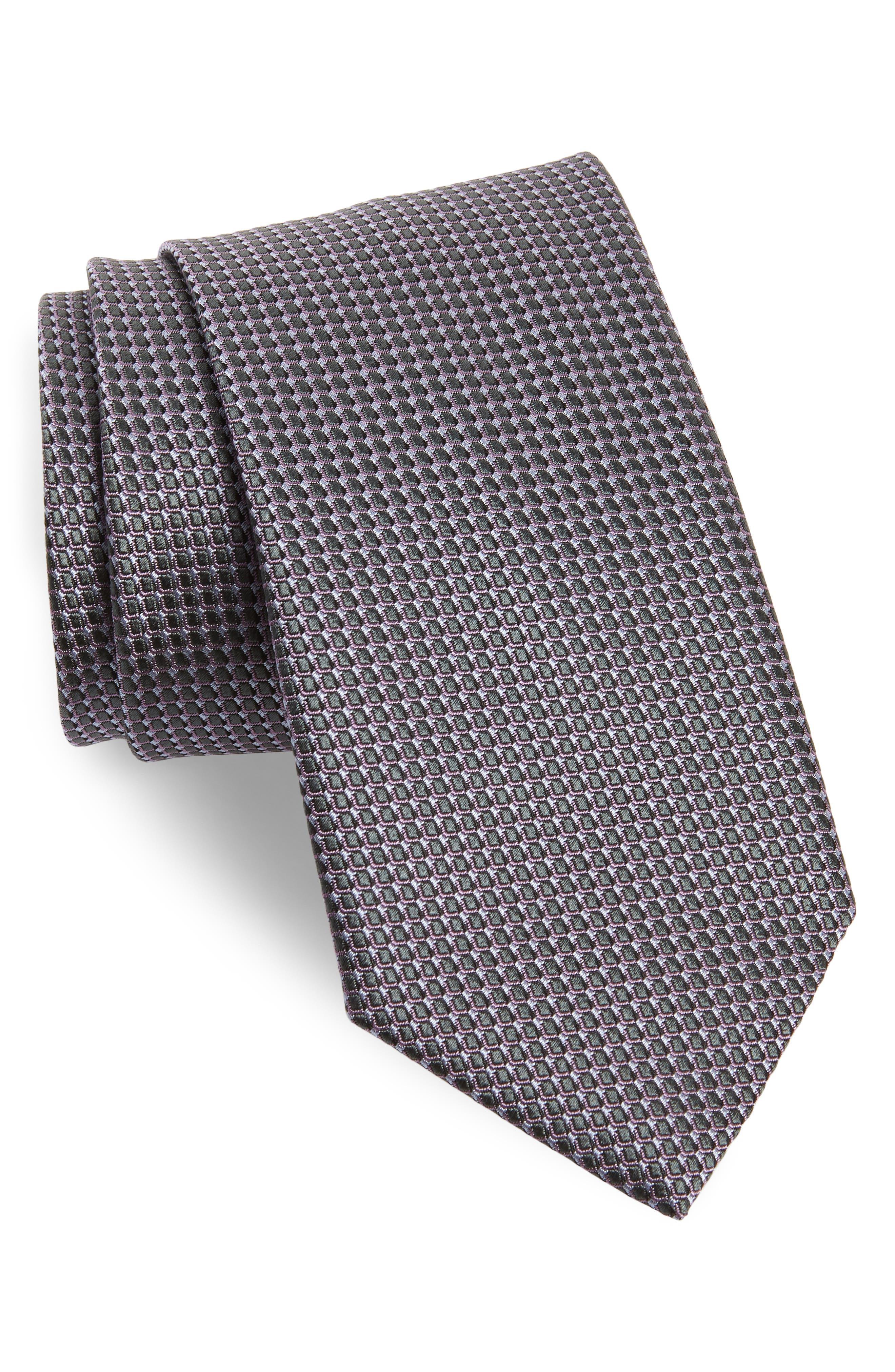 Solid Silk Tie,                         Main,                         color, 070