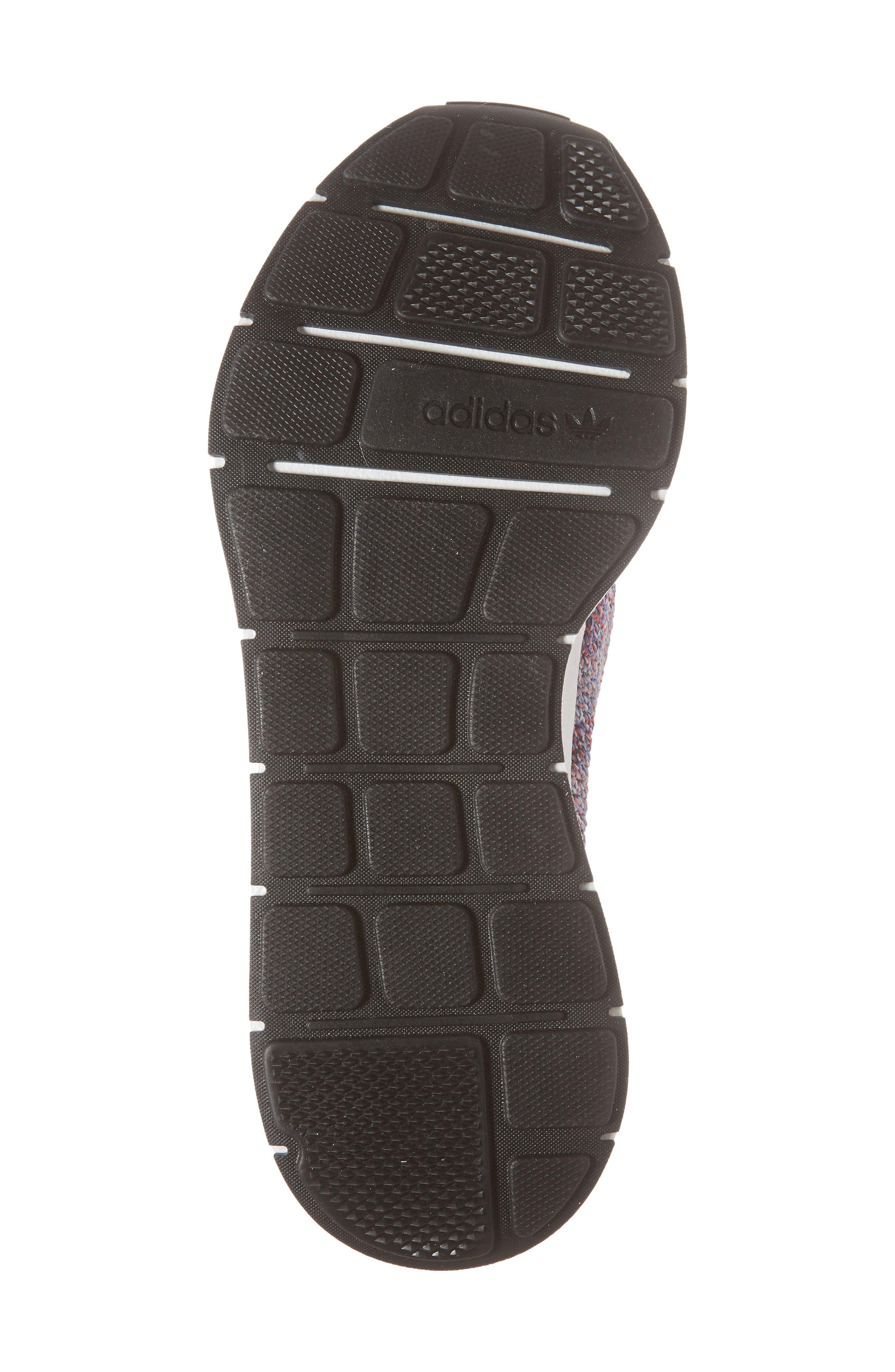 Swift Run Primeknit Sneaker,                             Alternate thumbnail 6, color,                             WHITE/ PURPLE/ BLACK