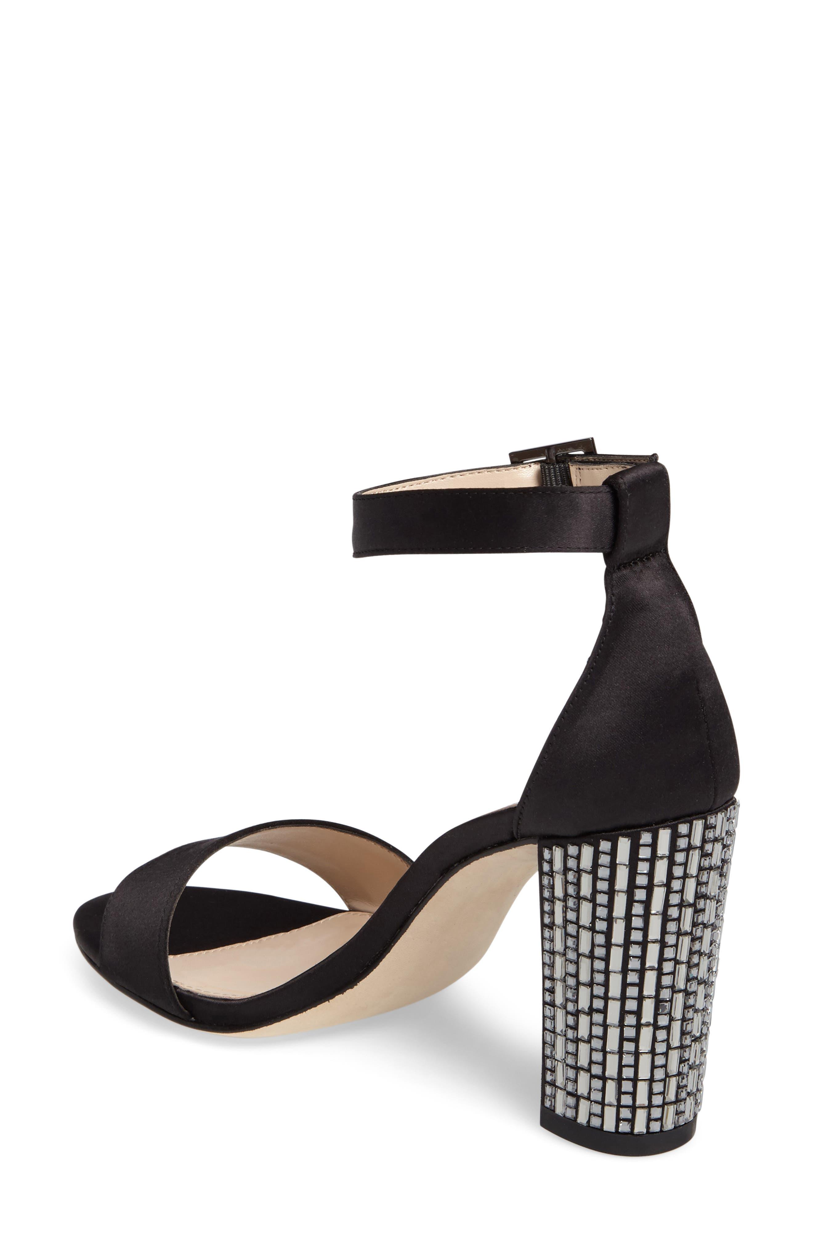 Bonnie 3 Embellished Ankle Strap Sandal,                             Alternate thumbnail 2, color,                             001